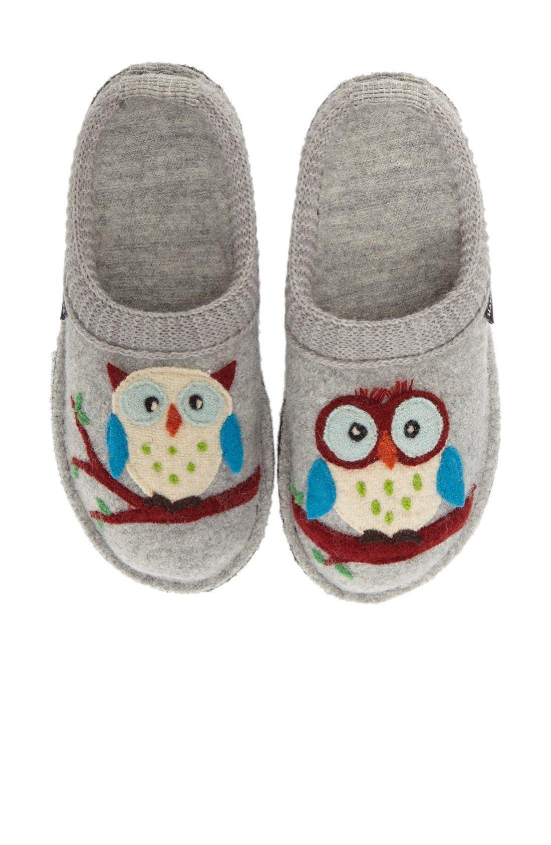 'Olivia' Owl Slipper,                             Alternate thumbnail 6, color,