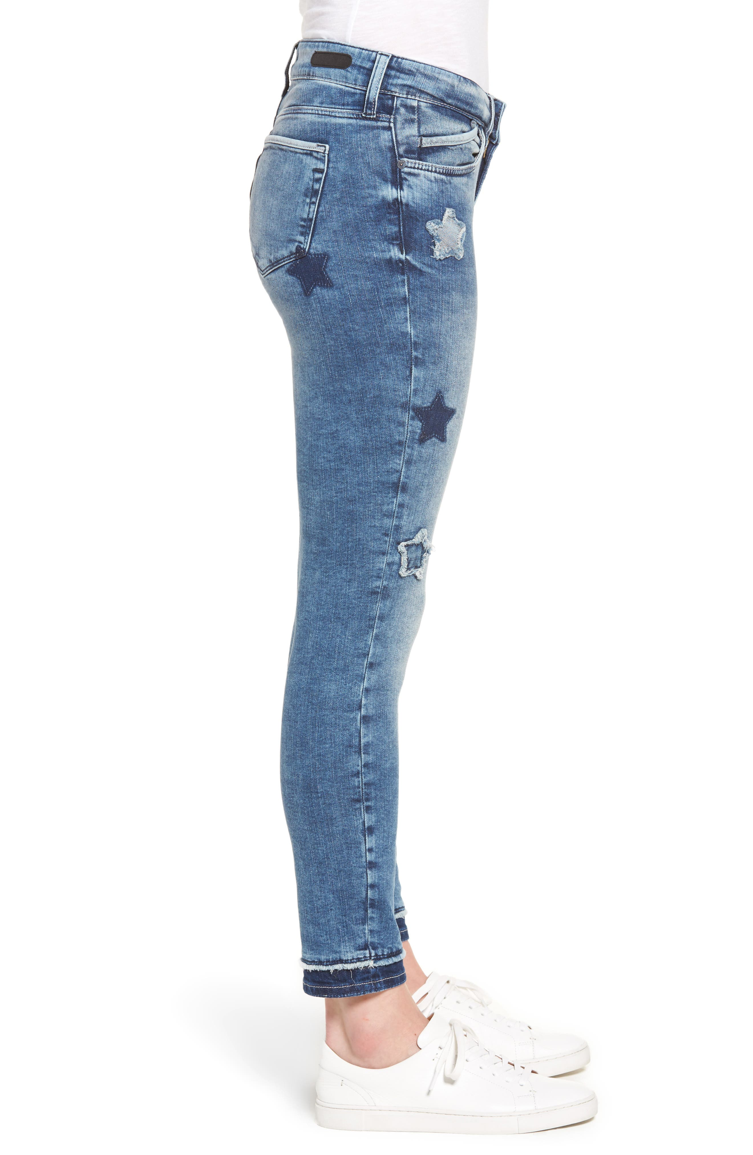 Adriana Super Skinny Ankle Jeans,                             Alternate thumbnail 3, color,                             420