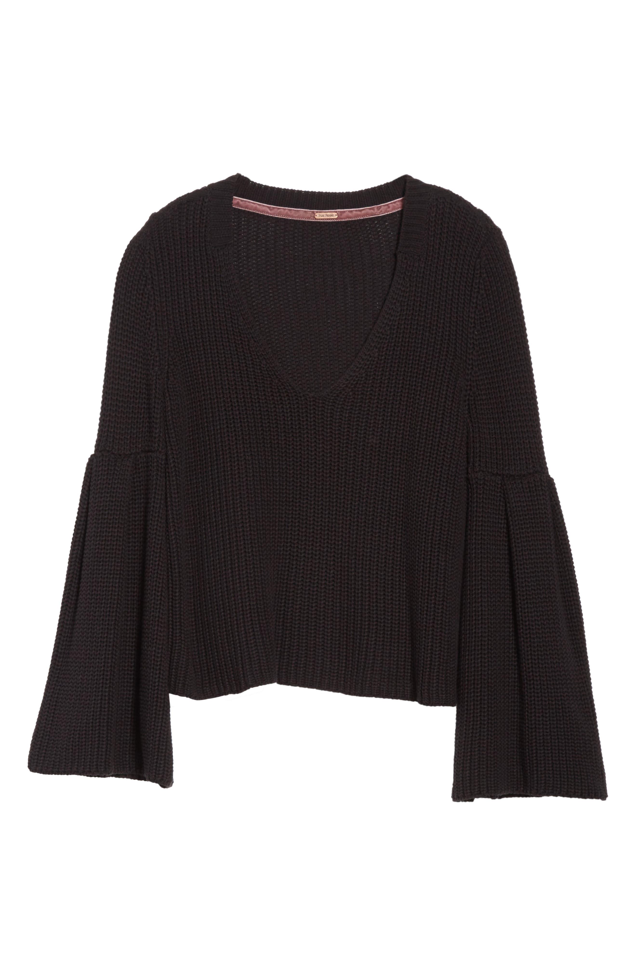 Damsel Bell Sleeve Pullover,                             Alternate thumbnail 6, color,                             001
