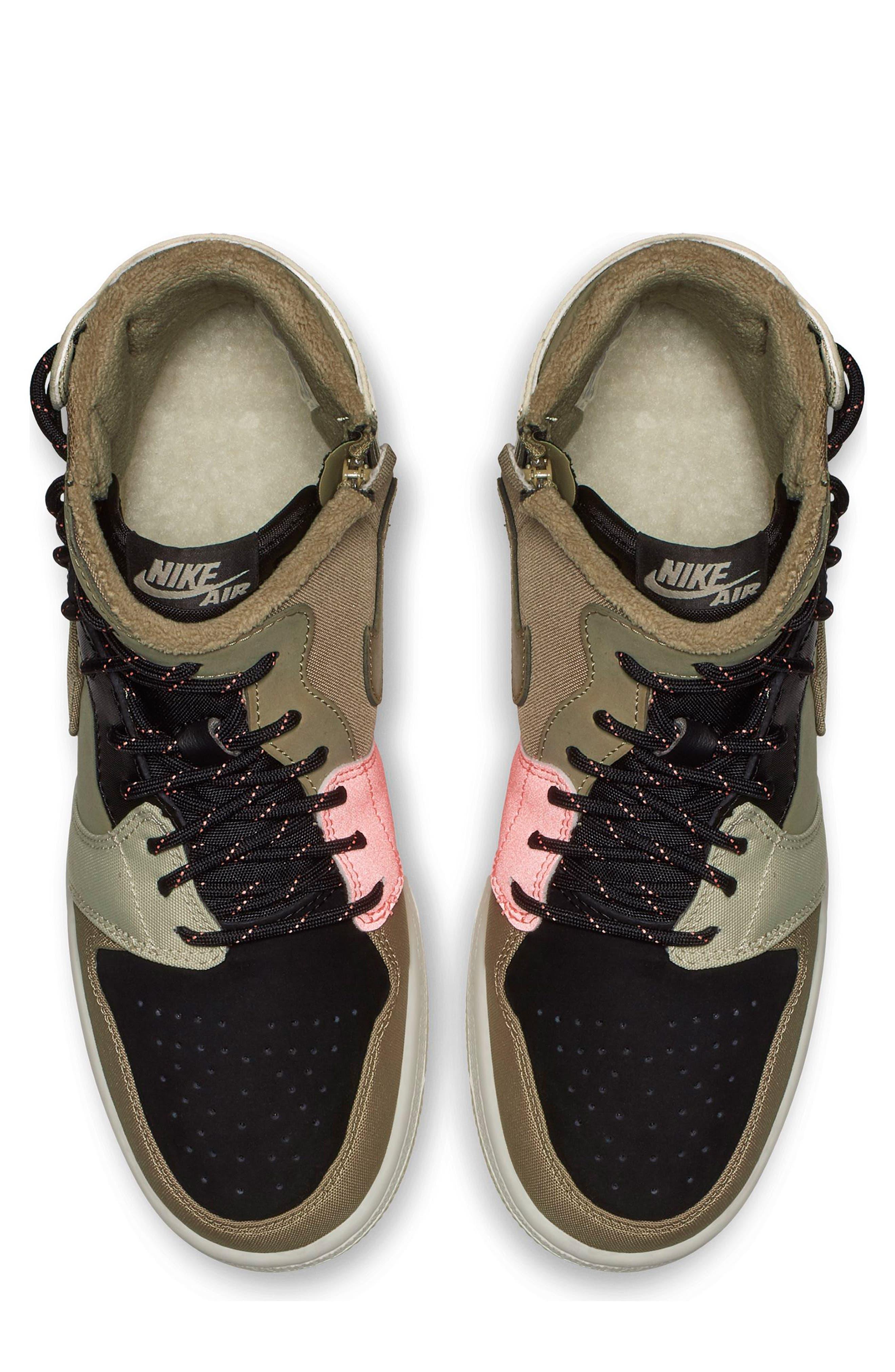 Air Jordan 1 Rebel XX Utility High Top Sneaker,                             Alternate thumbnail 4, color,                             PARACHUTE BEIGE
