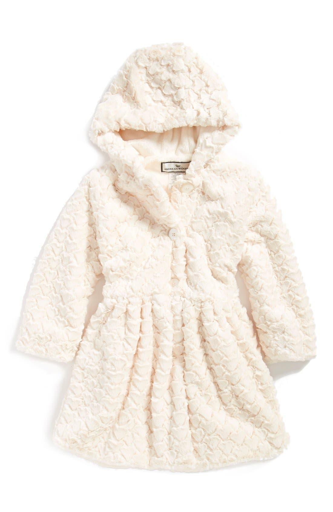 Button Front Faux Fur Coat,                             Main thumbnail 1, color,                             900