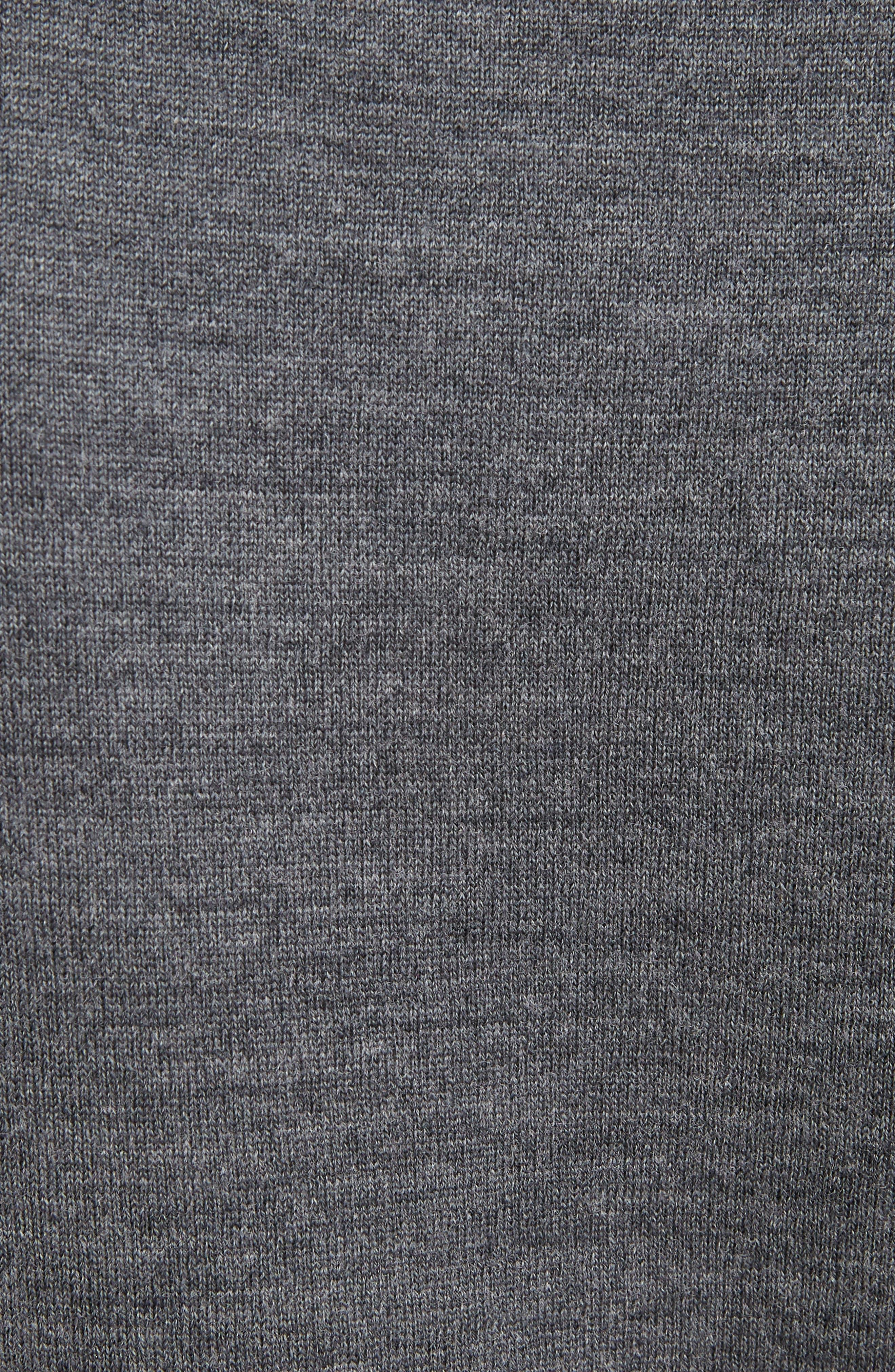 Brocade C Sweater,                             Alternate thumbnail 5, color,                             CONFIDENT GREY