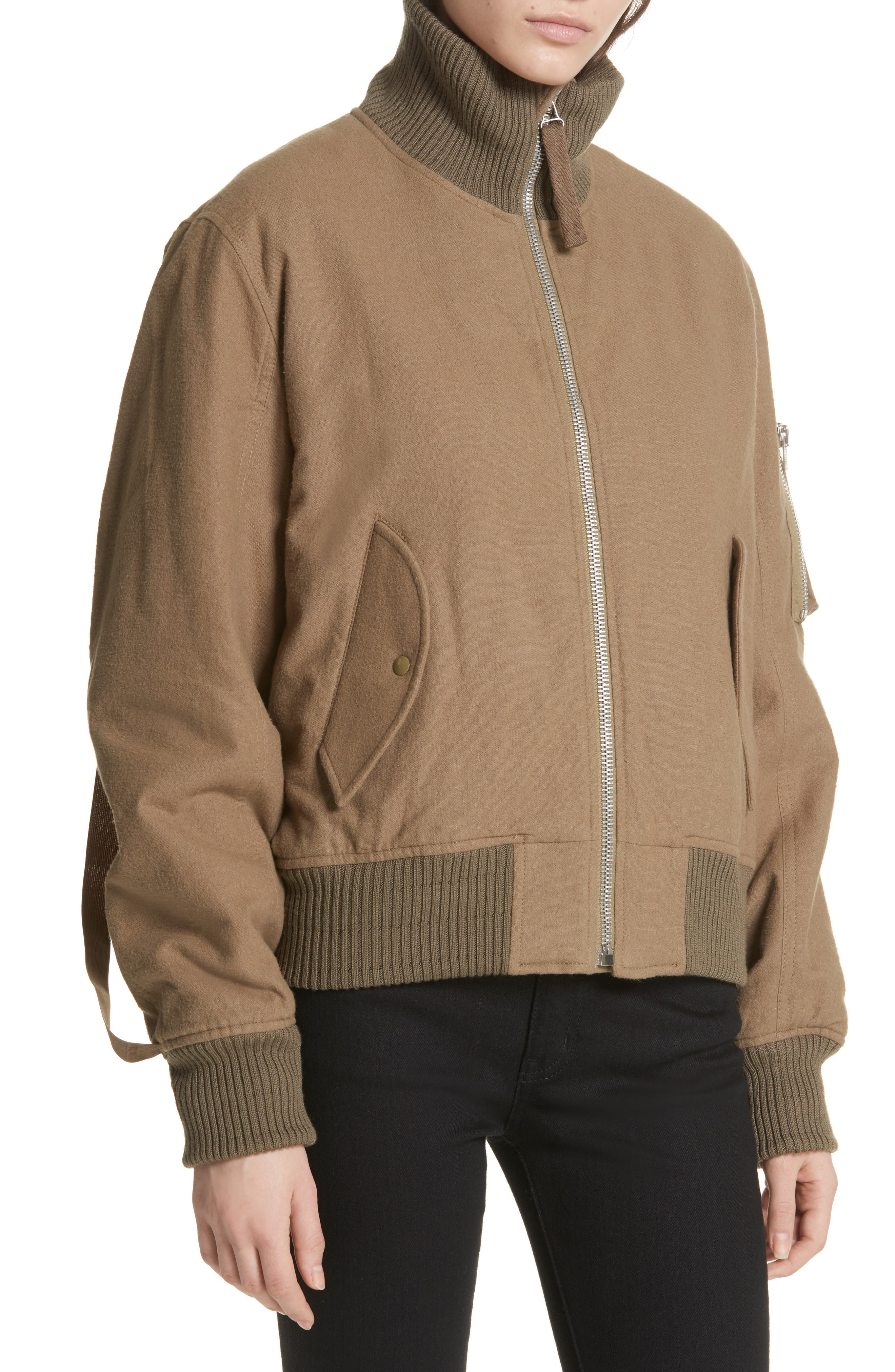 Re-Edition High Collar Bomber Jacket,                             Alternate thumbnail 4, color,                             317
