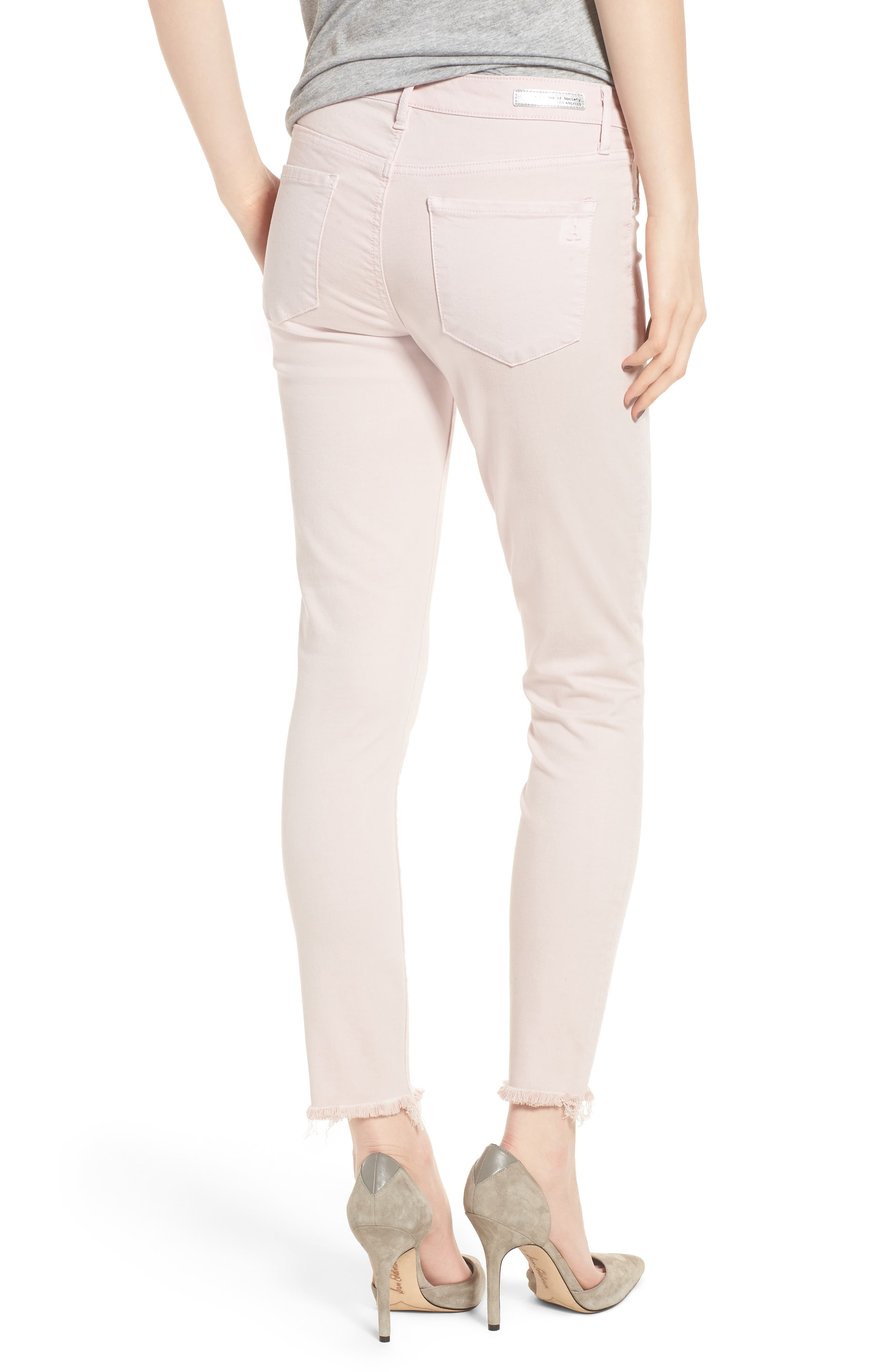 Carly Raw Hem Ankle Skinny Jeans,                             Alternate thumbnail 2, color,                             650