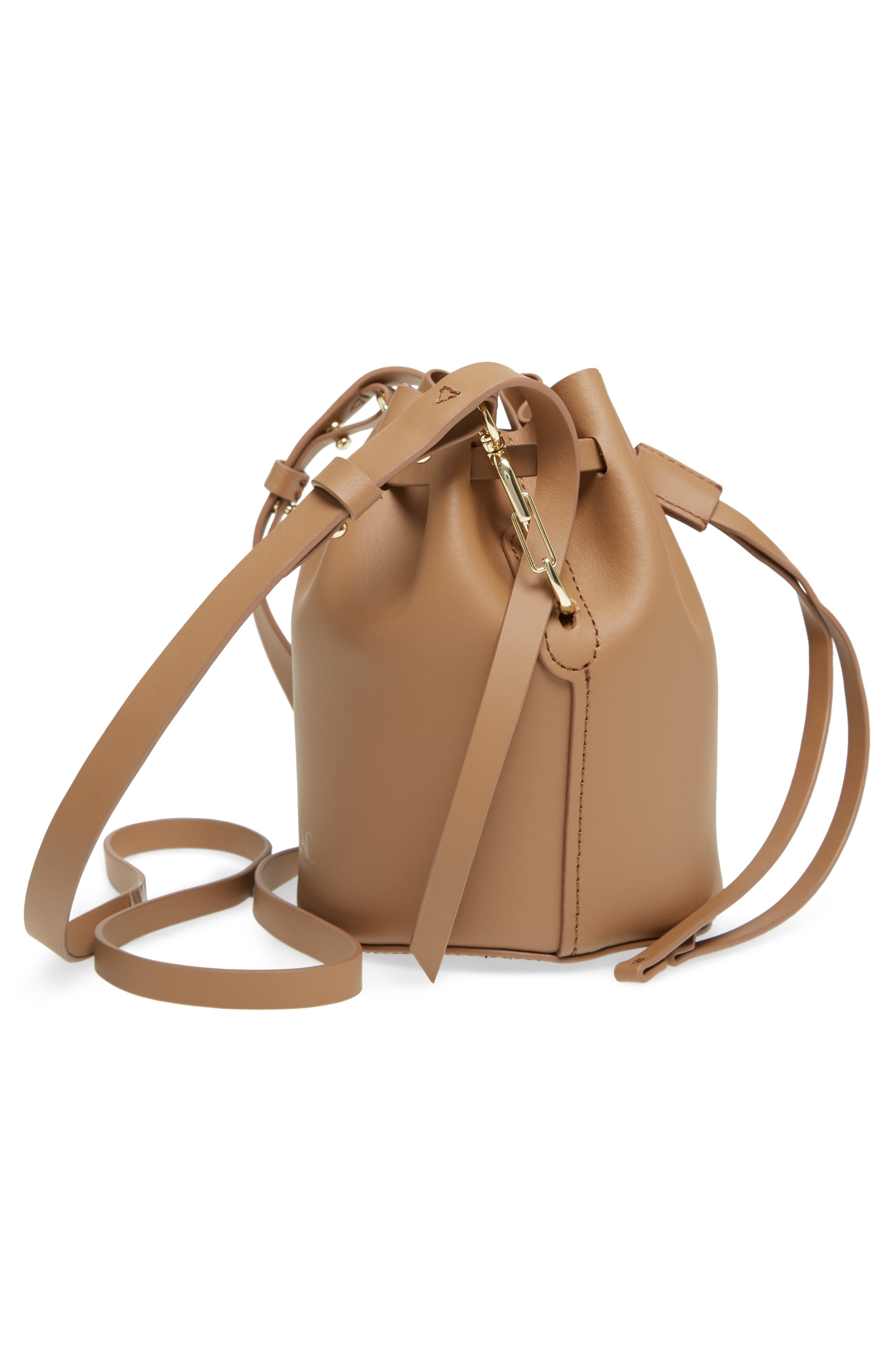 Mini Belay Calfskin Leather Drawstring Bag,                             Alternate thumbnail 13, color,