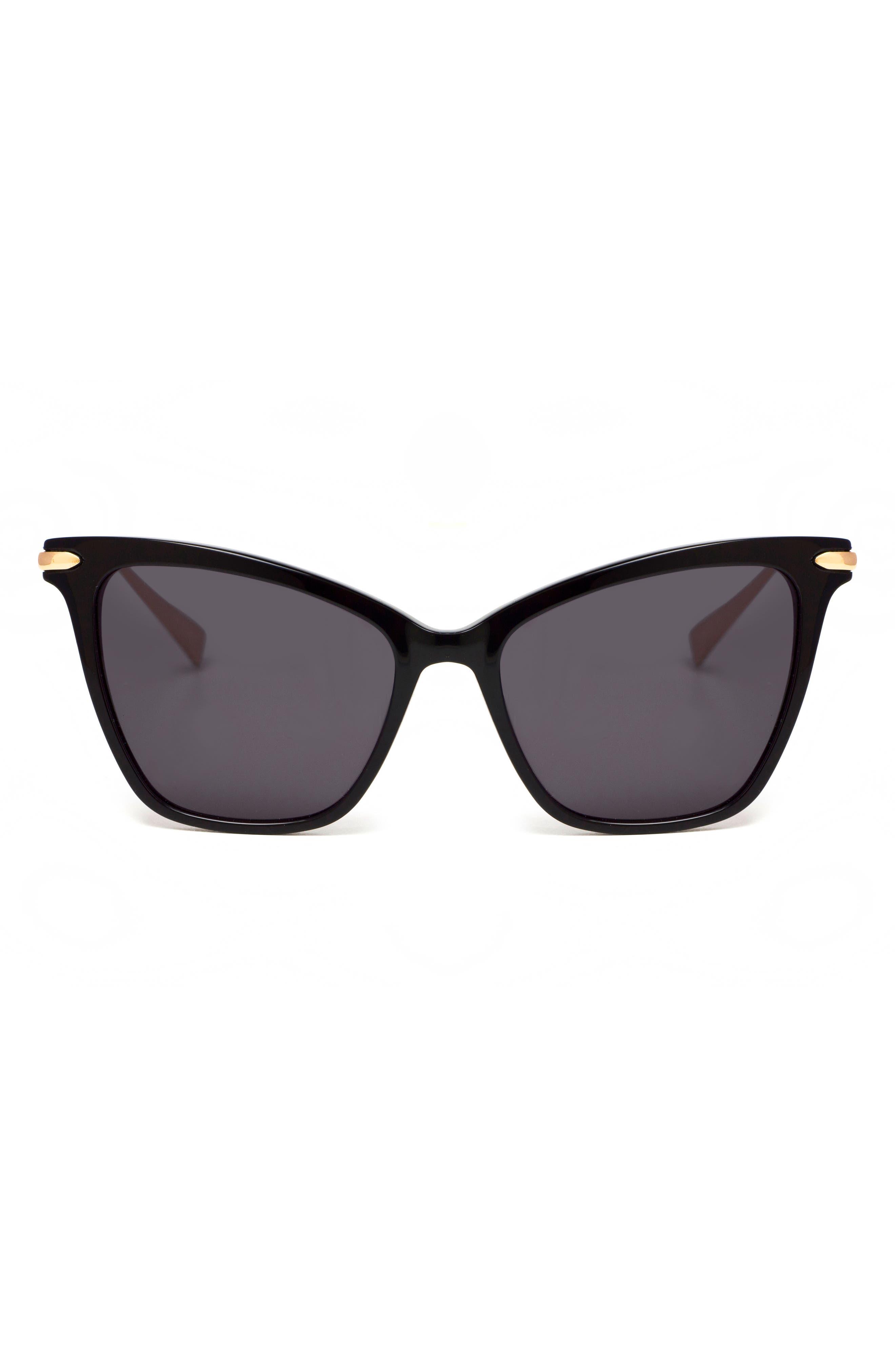 Jetsetter 55mm Cat Eye Sunglasses,                             Alternate thumbnail 3, color,                             001