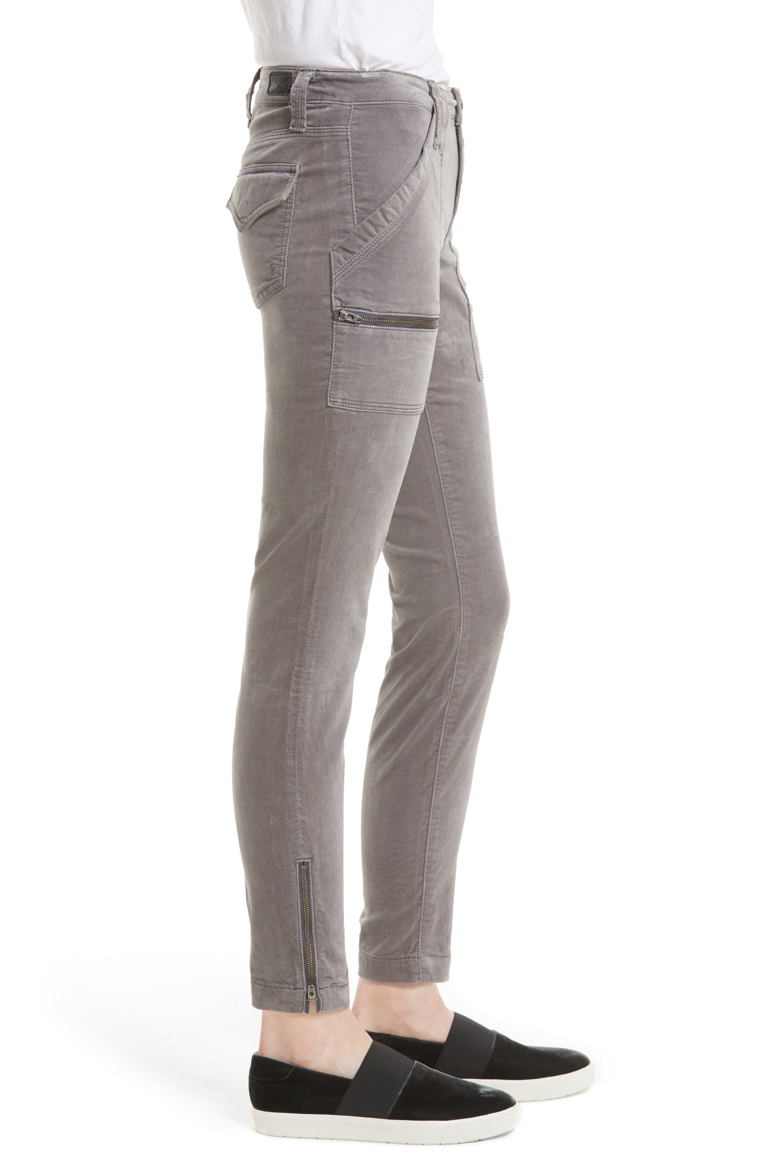 Park Stretch Cotton Skinny Pants,                             Alternate thumbnail 6, color,
