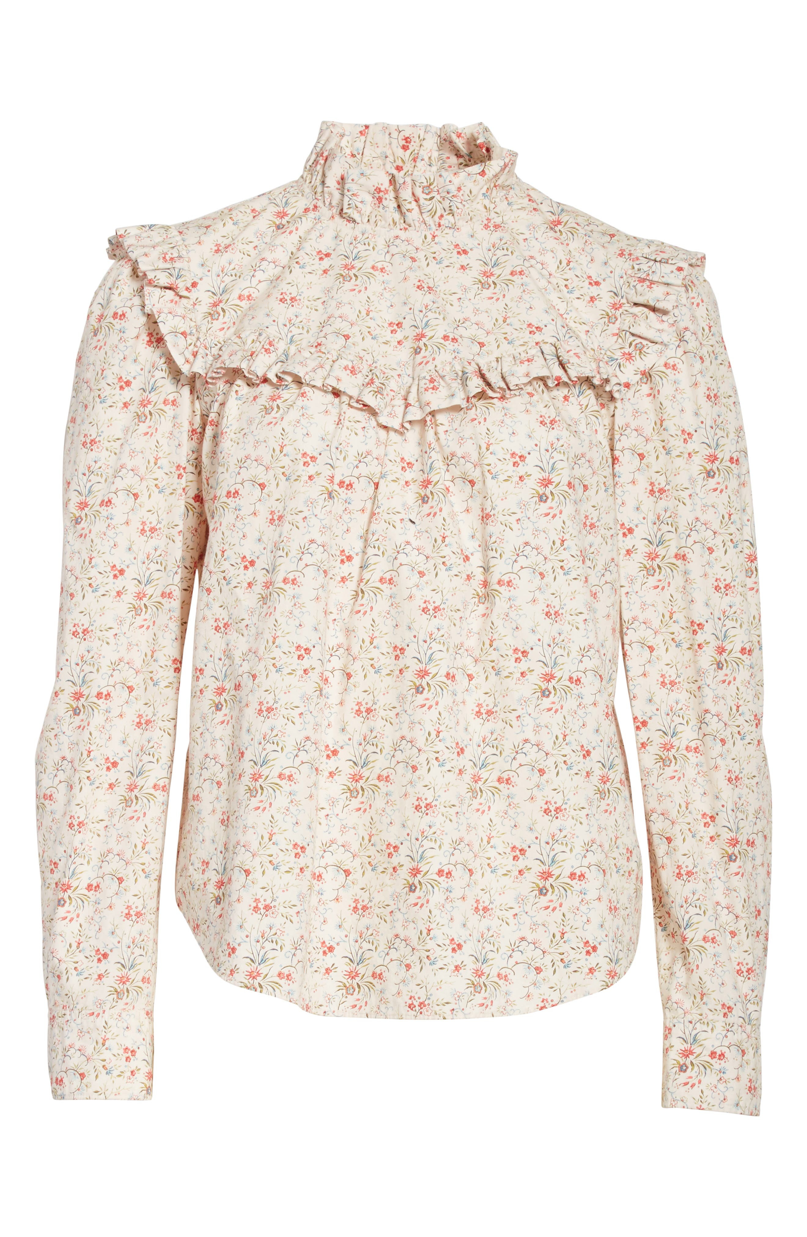Brittany Floral Blouse,                             Alternate thumbnail 6, color,                             902