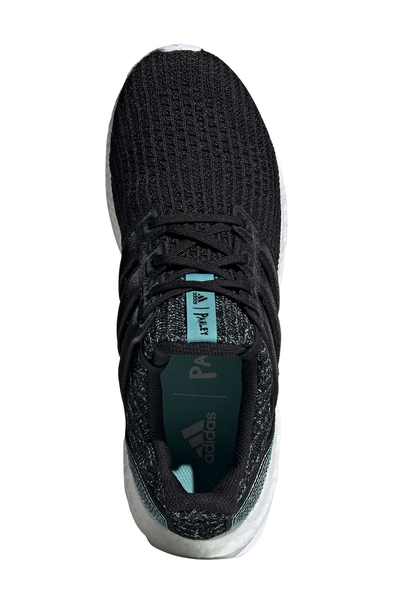 Parley UltraBoost Sneaker,                             Alternate thumbnail 4, color,                             001