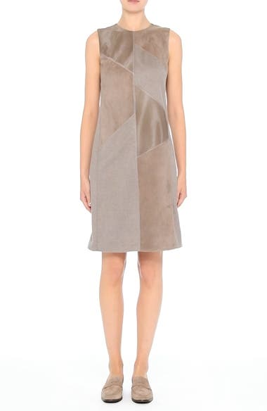 Daren Loro Piana<sup>®</sup> Mélange Cashmere Dress with Suede & Genuine Calf Hair Trim, video thumbnail