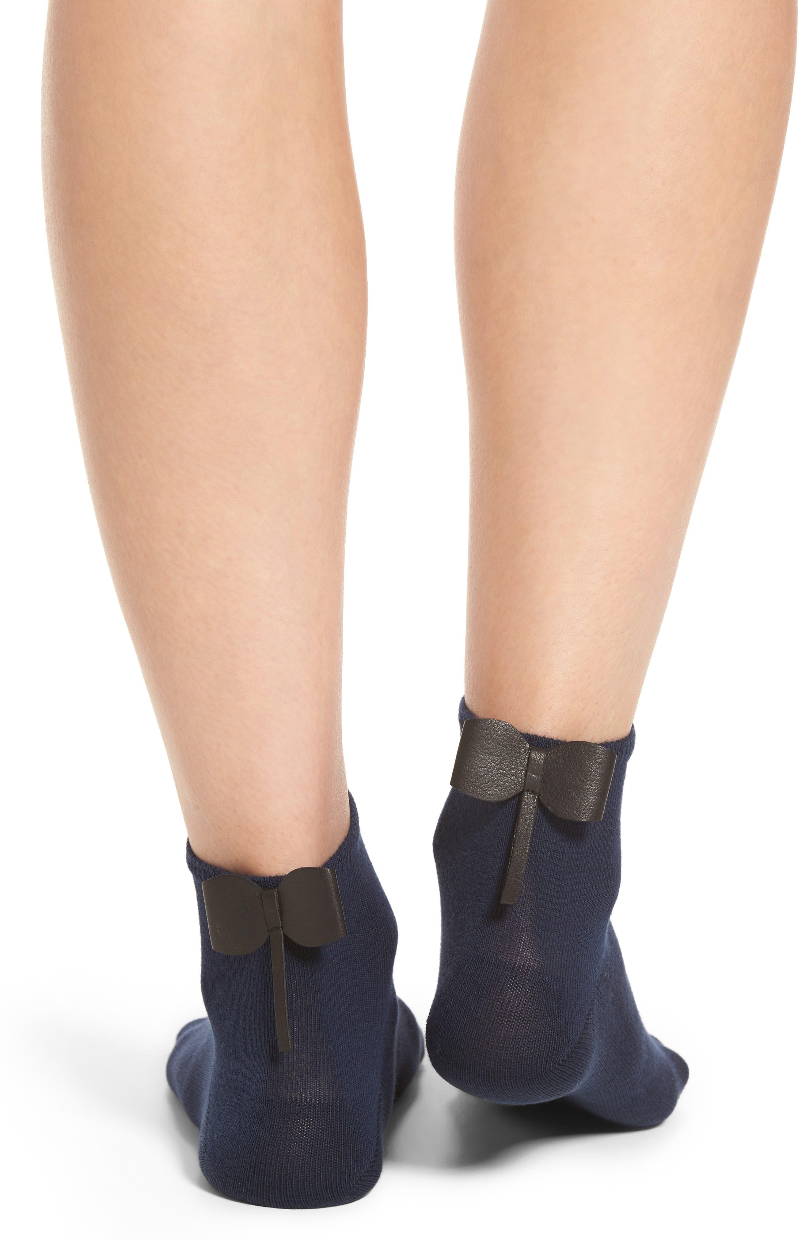 Bow Socks,                             Alternate thumbnail 4, color,