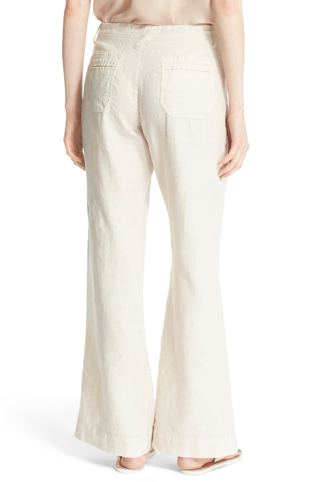 Wide Leg Linen Pants,                             Alternate thumbnail 14, color,