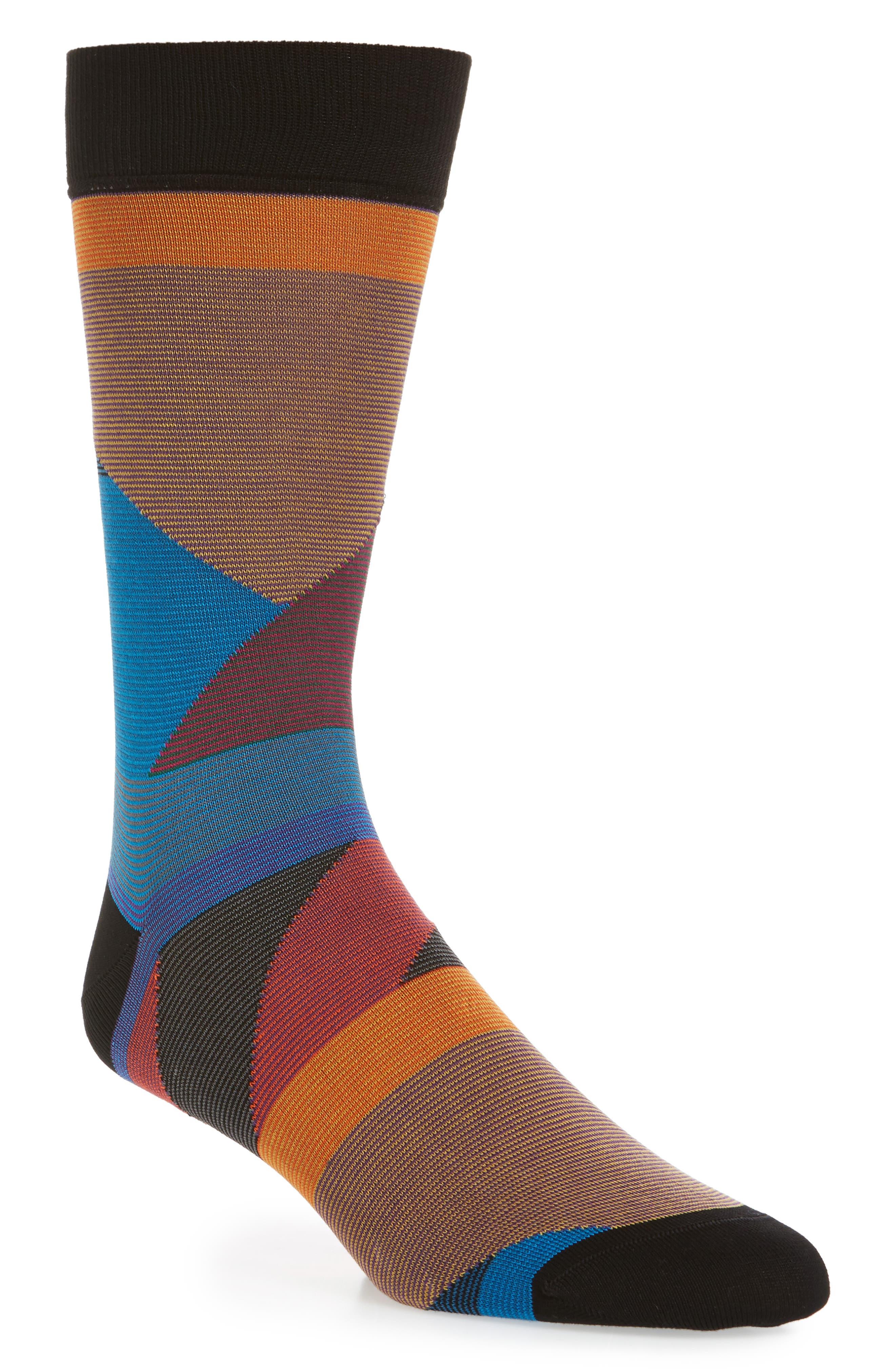 Geometric Crew Socks,                             Main thumbnail 1, color,                             001
