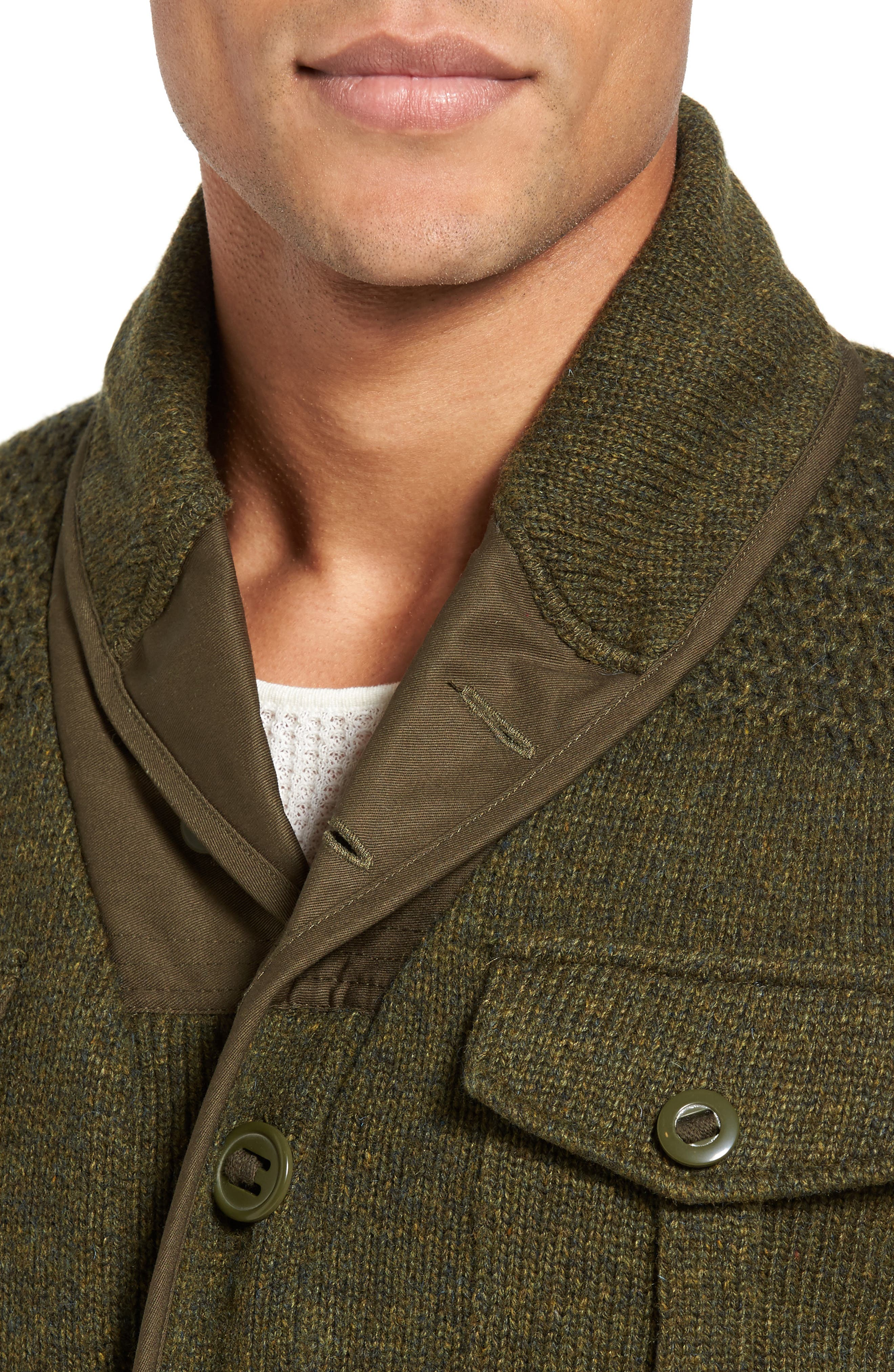 Military Sherpa-Lined Sweater Jacket,                             Alternate thumbnail 10, color,