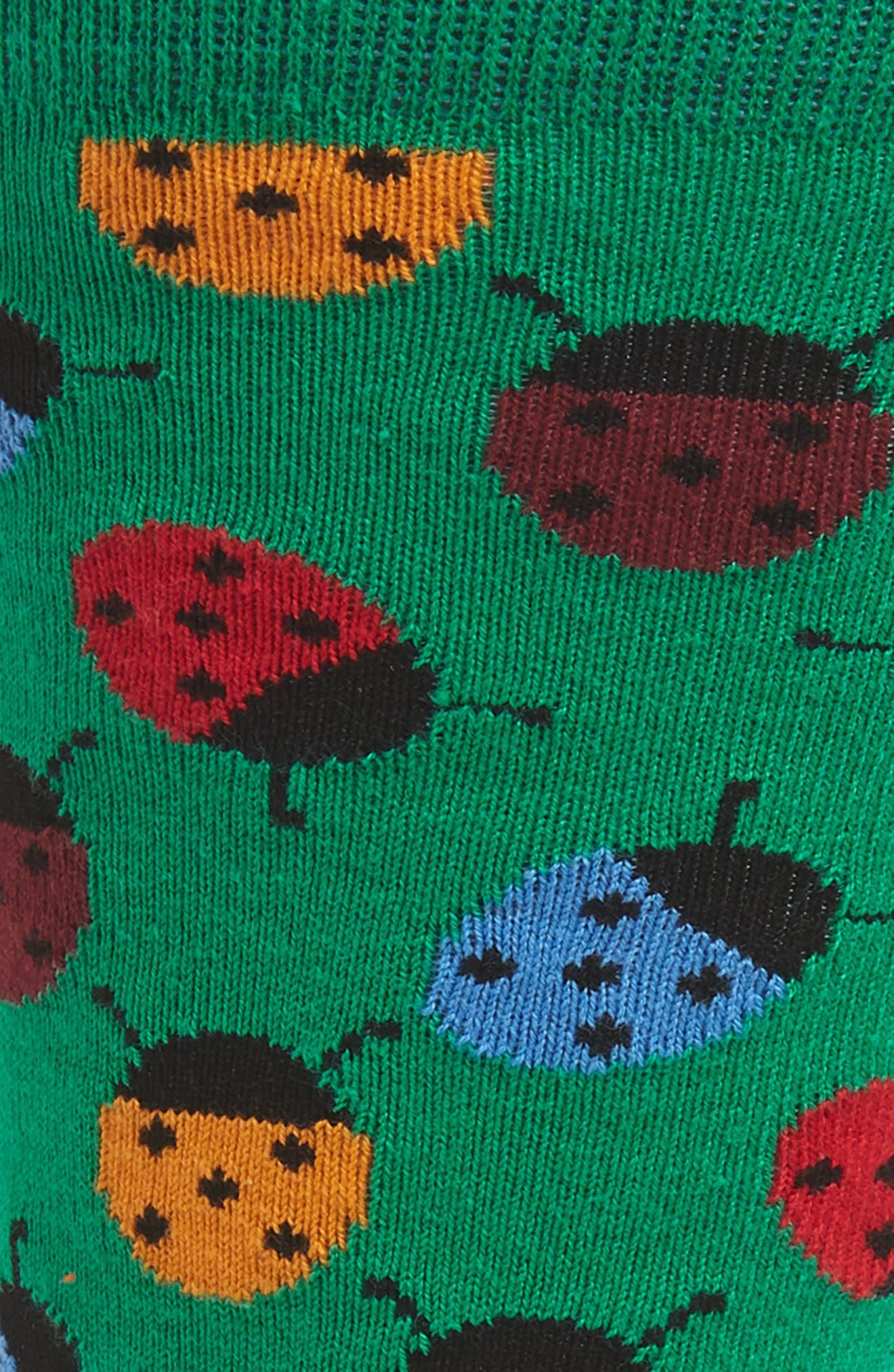 Ladybug Socks,                             Alternate thumbnail 2, color,                             314