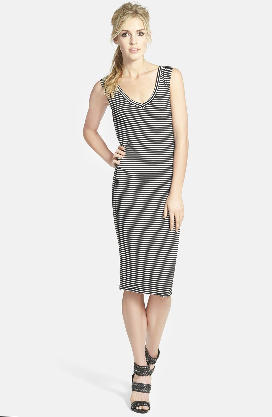 Stripe Body-Con Dress,                             Main thumbnail 1, color,                             001