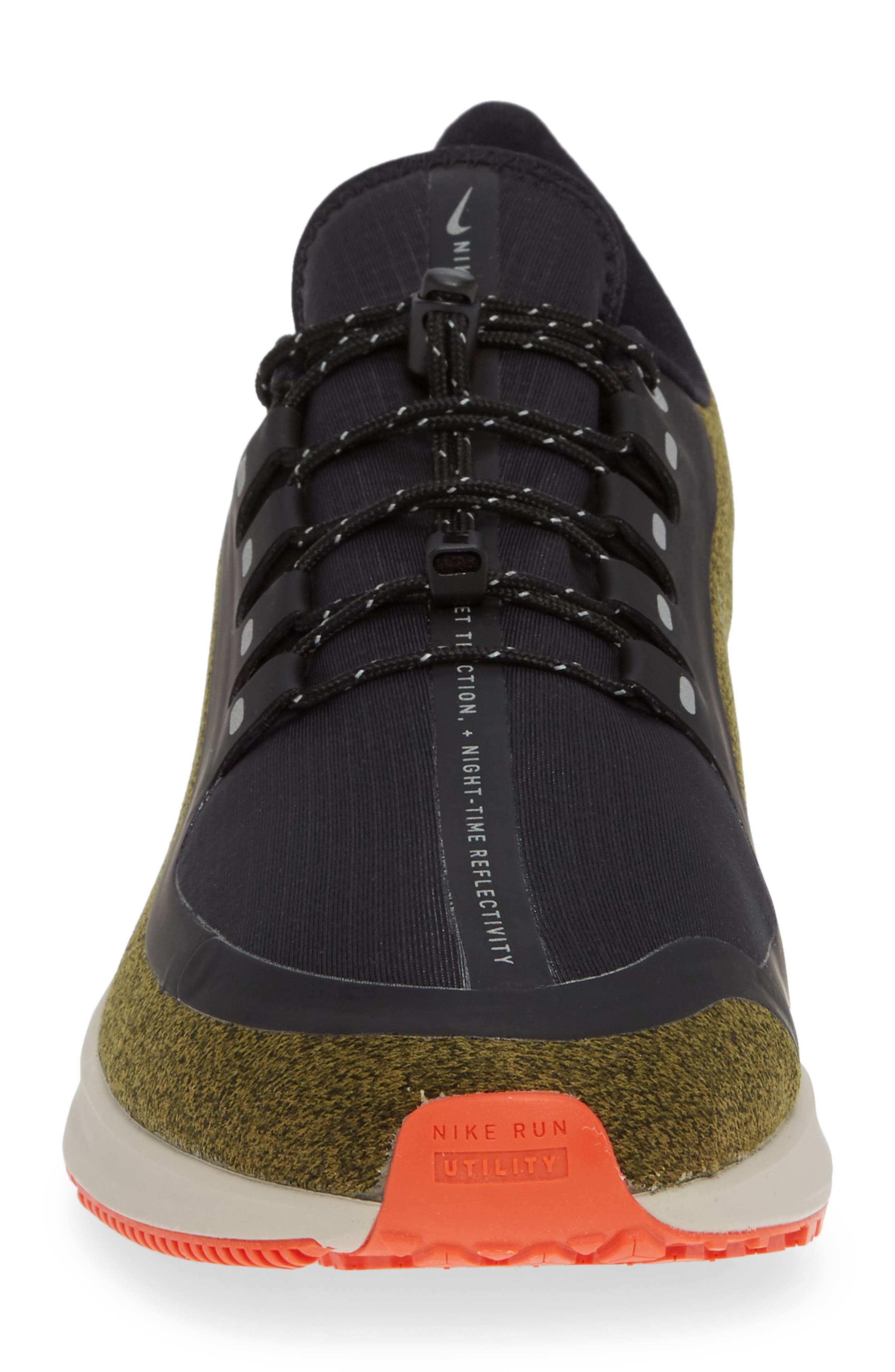 Air Zoom Pegasus 35 Shield Water Repellent Running Shoe,                             Alternate thumbnail 4, color,                             OLIVE/ METALLIC SILVER/ BLACK