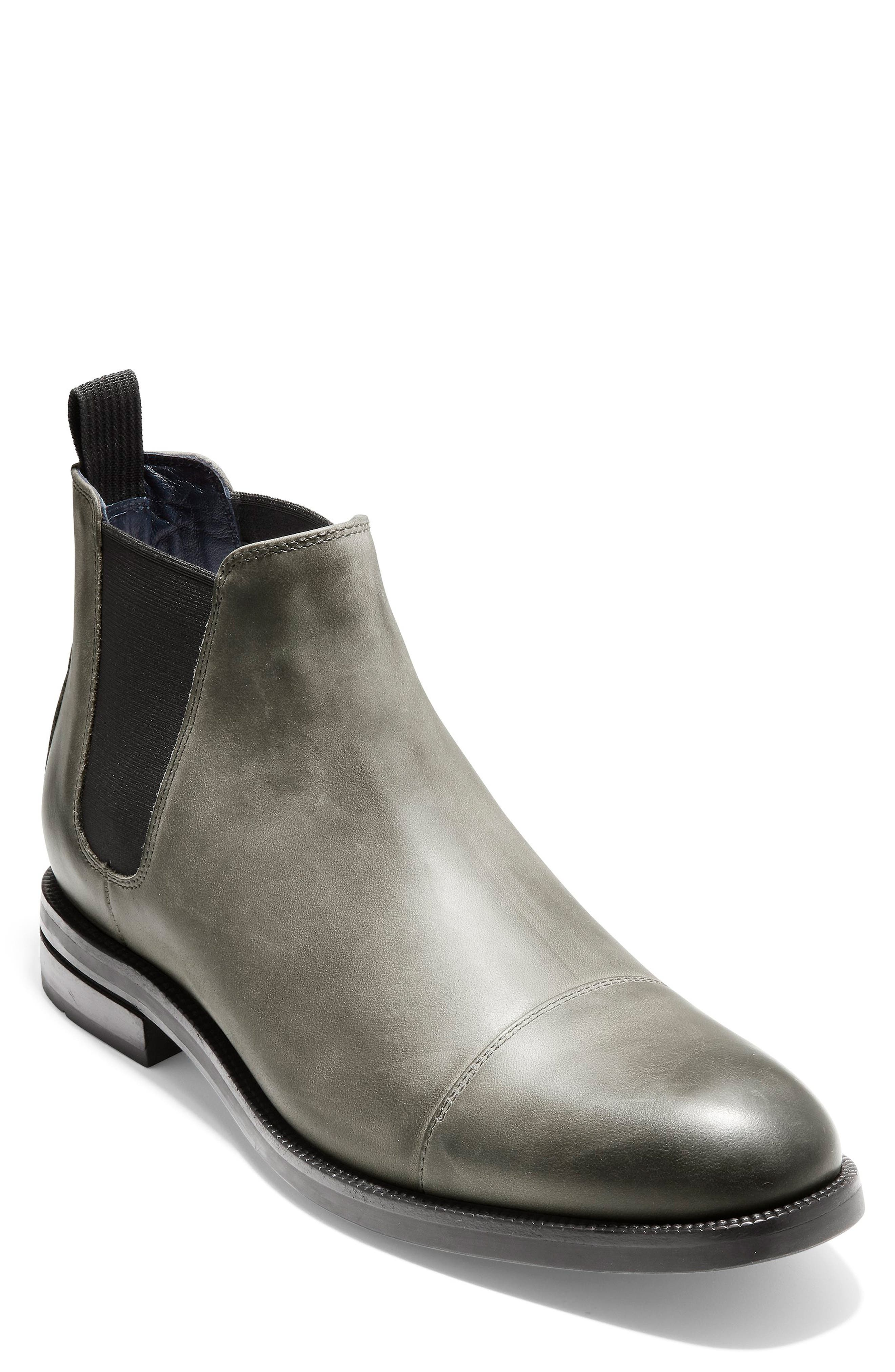 Wagner Grand Chelsea Boot,                         Main,                         color, MIDNIGHT GREY NUBUCK