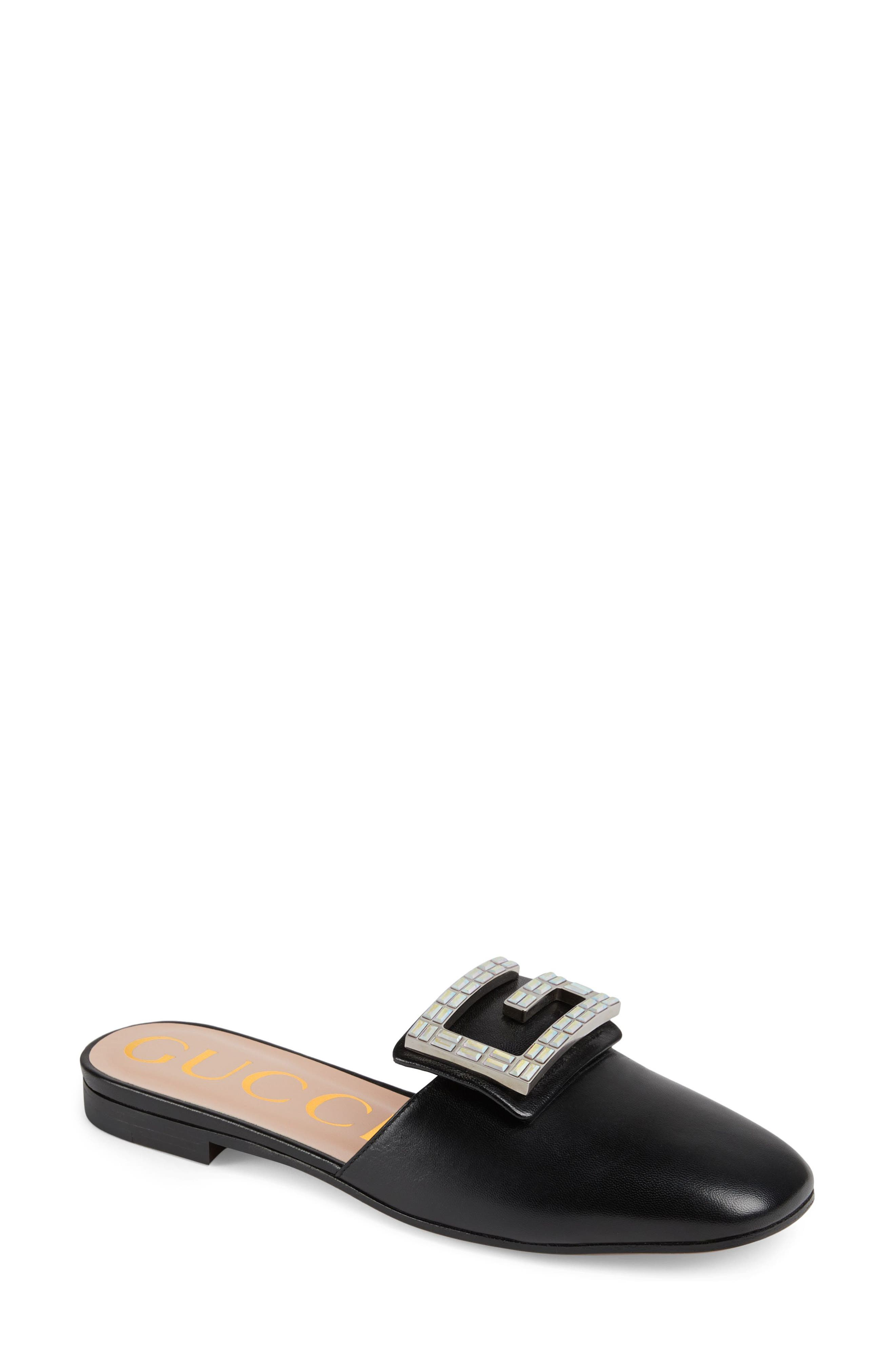 GUCCI,                             Madelyn Mule,                             Main thumbnail 1, color,                             BLACK