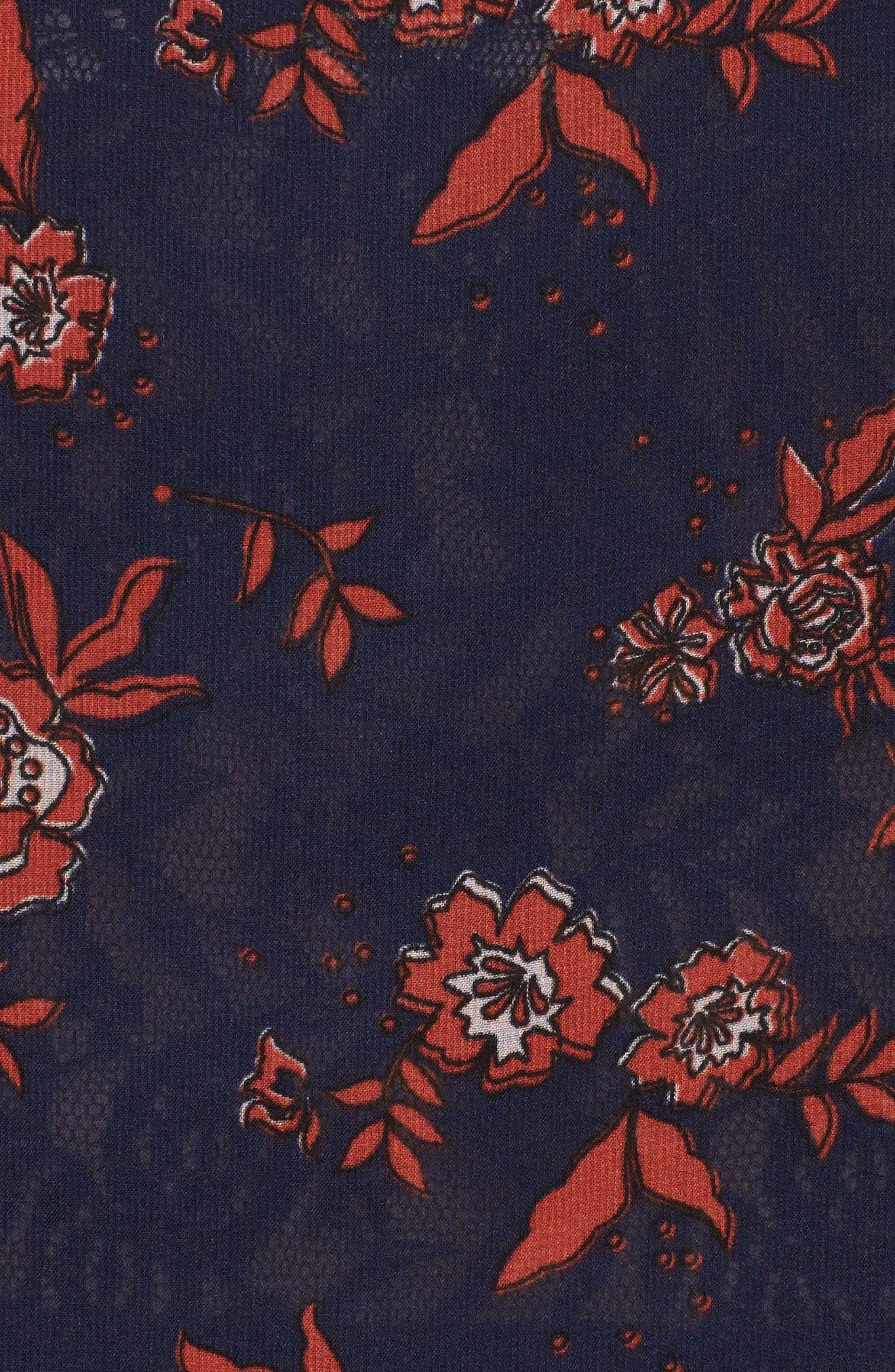 Capital Floral Blouse,                             Alternate thumbnail 5, color,                             413