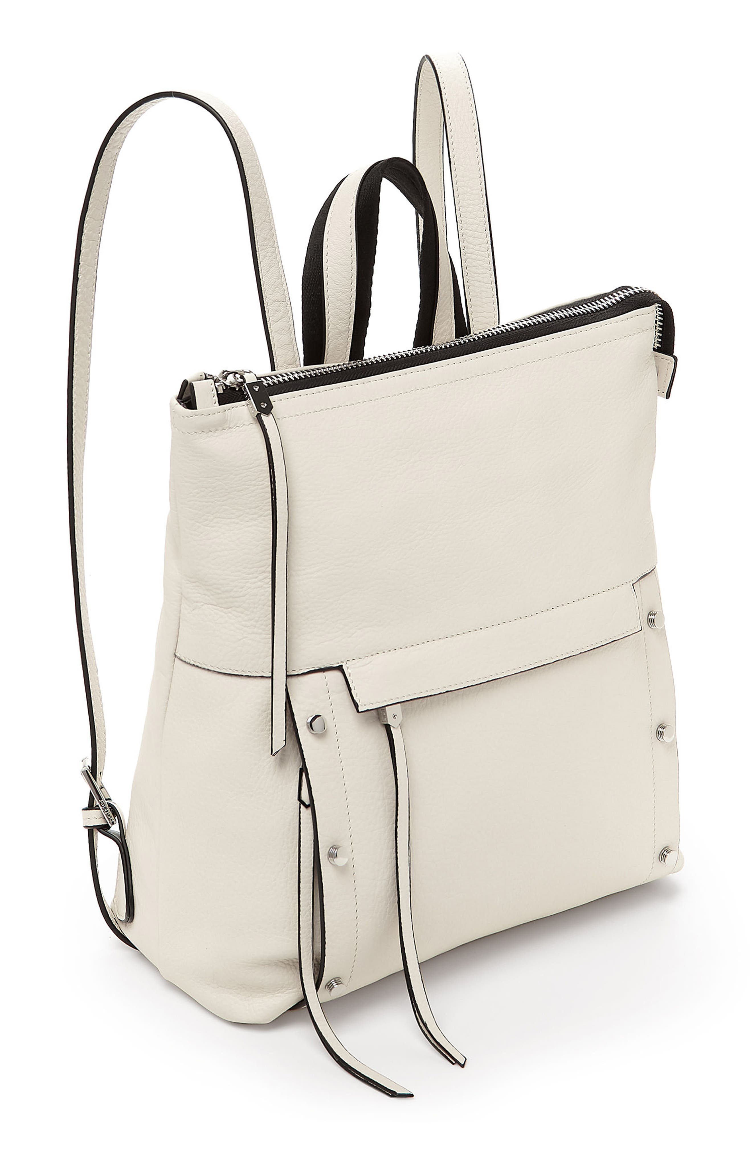 Noho Leather Backpack,                             Alternate thumbnail 4, color,                             CREAM