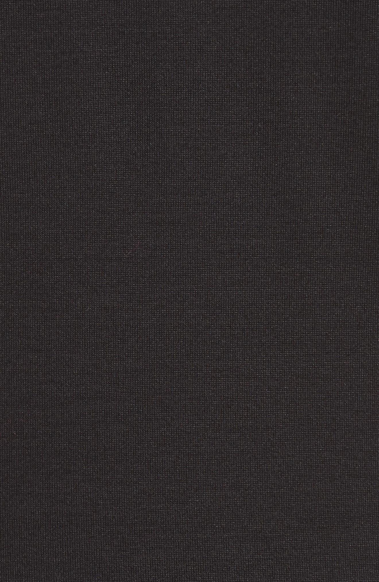 Stretch Silk Jersey Top,                             Alternate thumbnail 5, color,                             009-BLACK