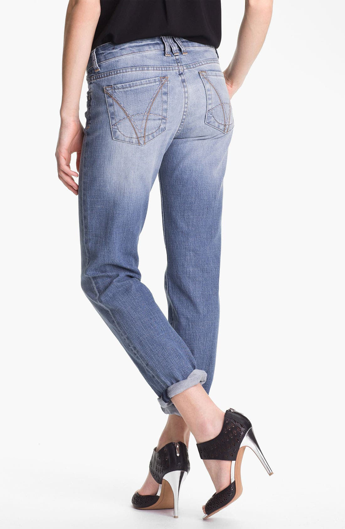 KUT FROM THE KLOTH,                             'Catherine' Distressed Slim Boyfriend Jeans,                             Alternate thumbnail 5, color,                             400