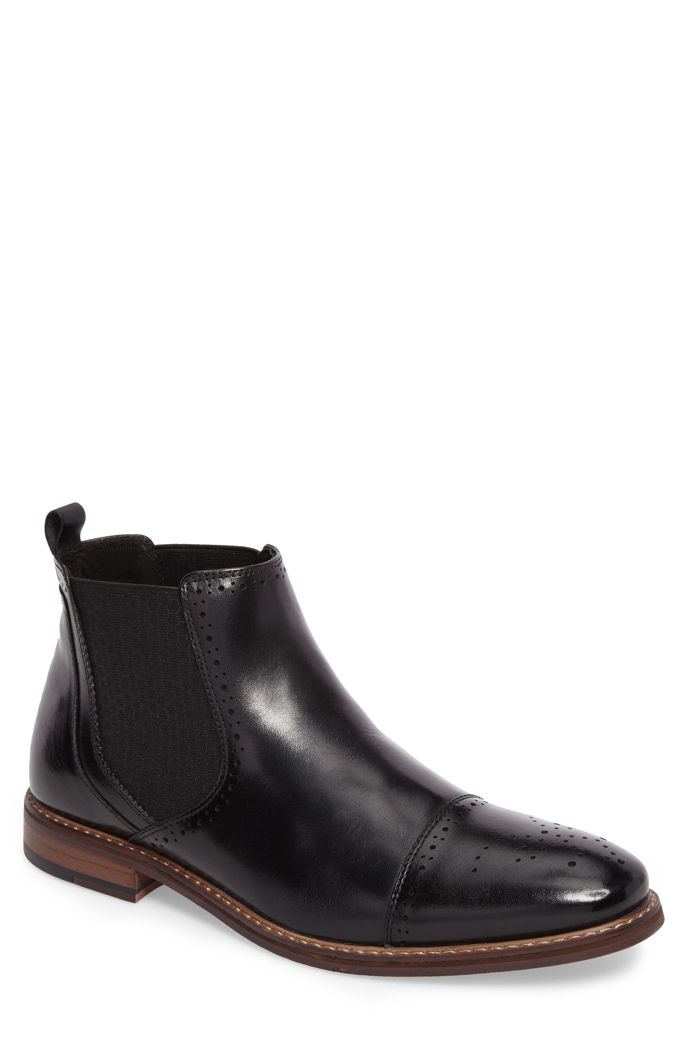 STACY ADAMS Alomar Chelsea Boot, Main, color, 001