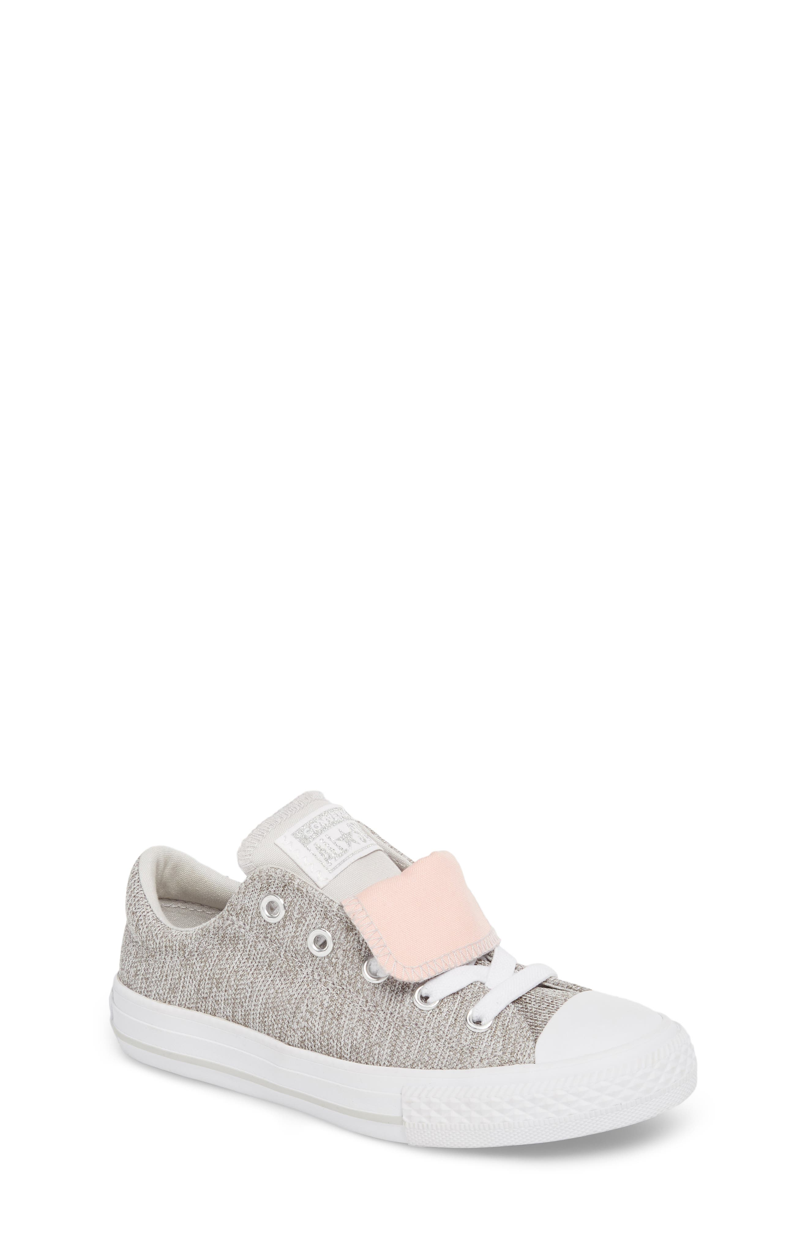 Chuck Taylor<sup>®</sup> All Star<sup>®</sup> Maddie Double Tongue Sneaker,                             Main thumbnail 1, color,                             LIGHT GREY