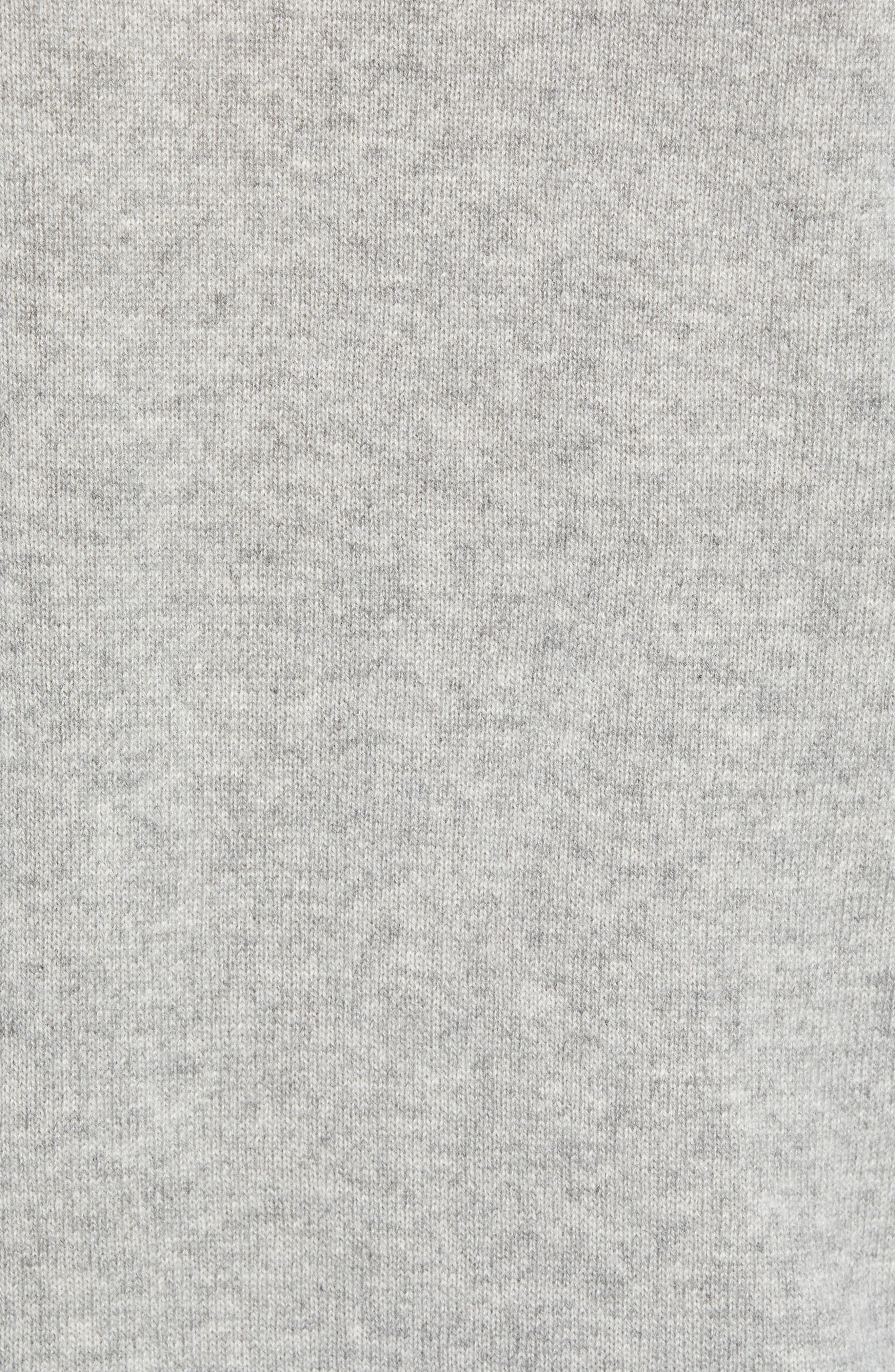 Everyday Cashmere Regular Fit Crewneck Sweater,                             Alternate thumbnail 5, color,                             HEATHER GREY