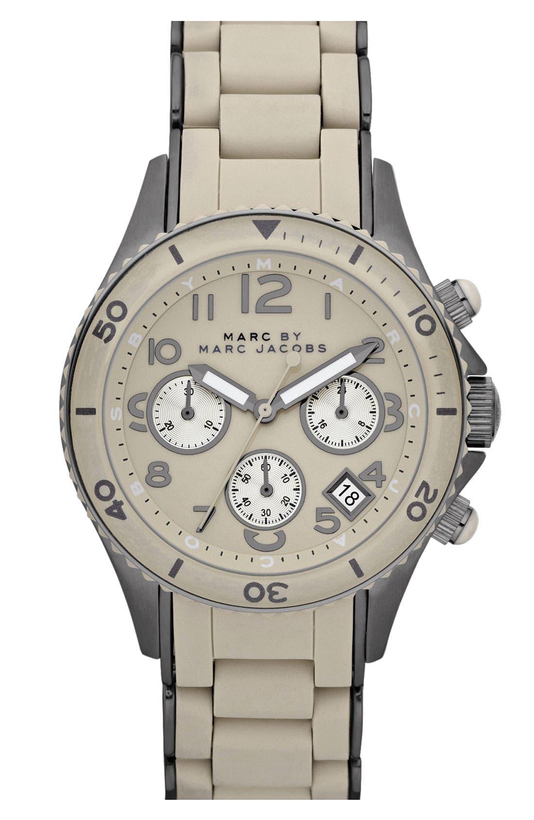 'Rock' Chronograph Silicone Bracelet Watch, 40mm,                             Main thumbnail 9, color,
