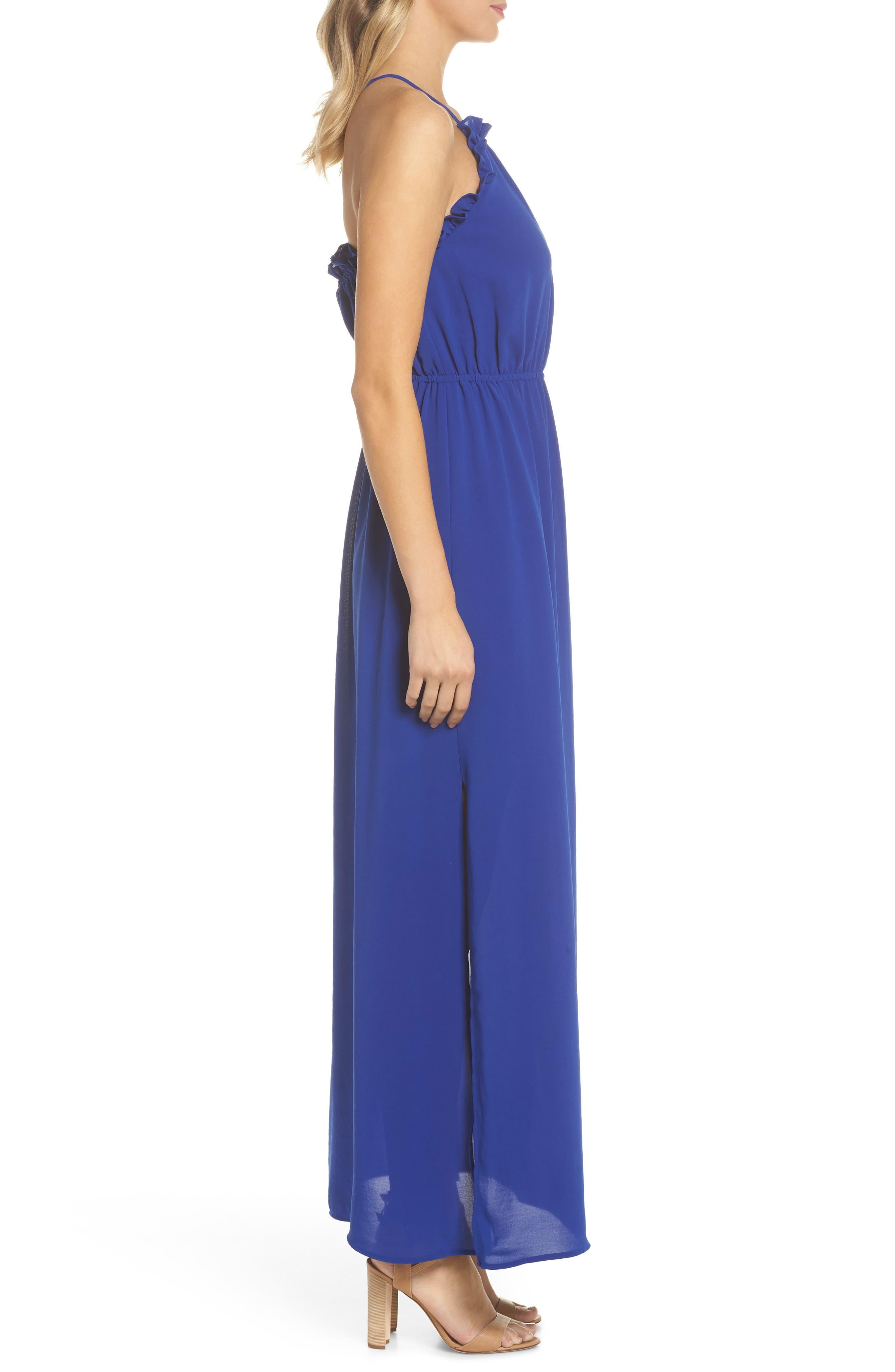Crepe Blouson Maxi Dress,                             Alternate thumbnail 3, color,                             414