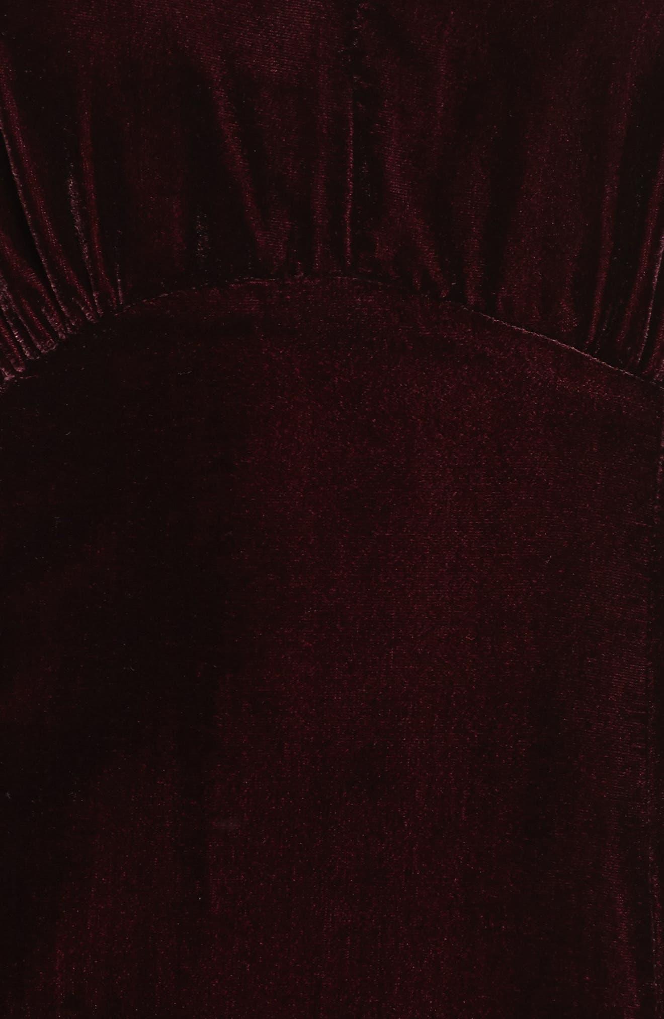 Elle Velvet Choker Sheath Dress,                             Alternate thumbnail 5, color,                             931