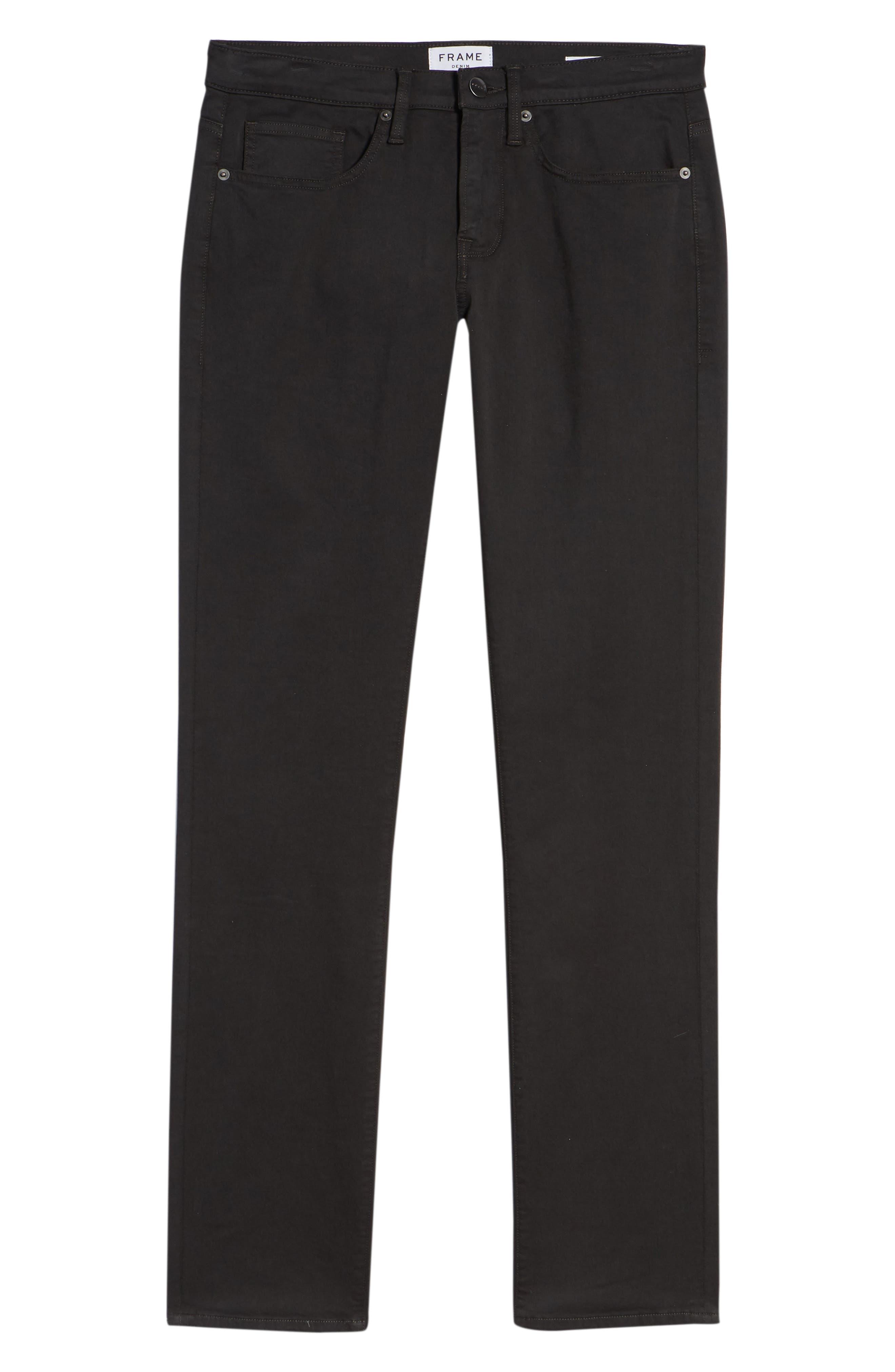 L'Homme Slim Fit Chino Pants,                             Alternate thumbnail 6, color,                             HEMATITE