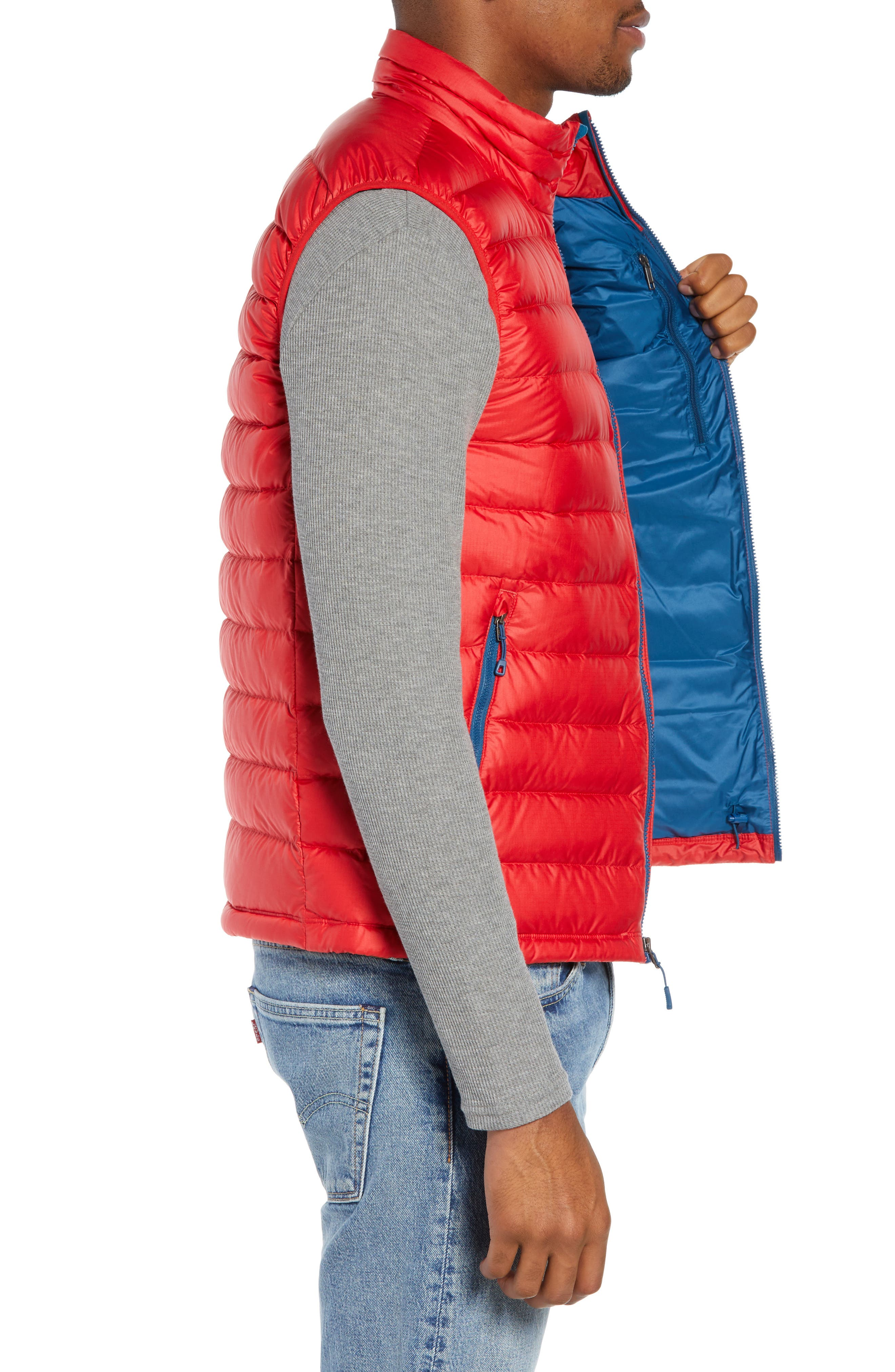 Windproof & Water Resistant 800 Fill Power Down Quilted Vest,                             Alternate thumbnail 23, color,