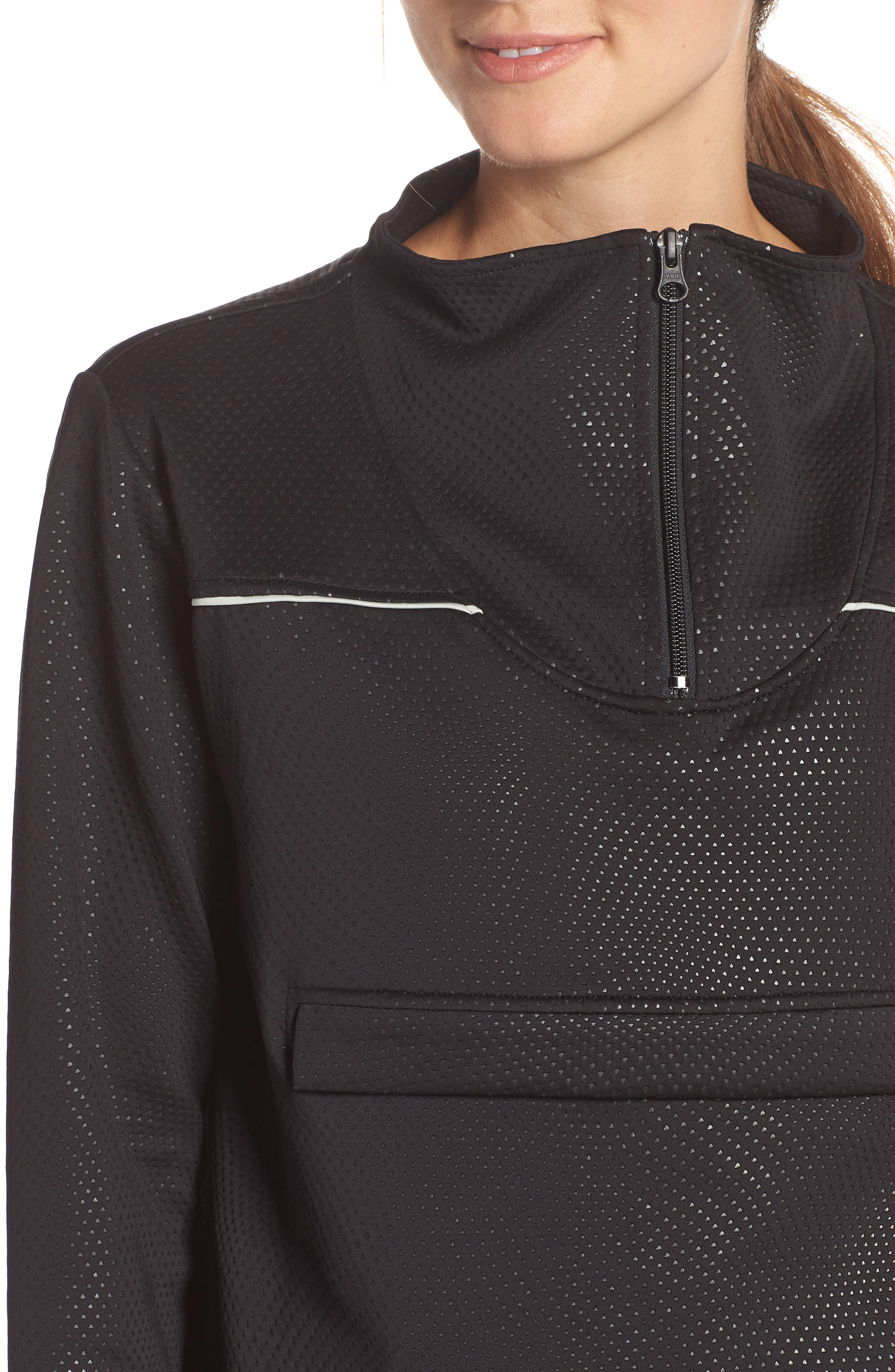 Kai Etch Half-Zip Sweatshirt,                             Alternate thumbnail 4, color,                             001