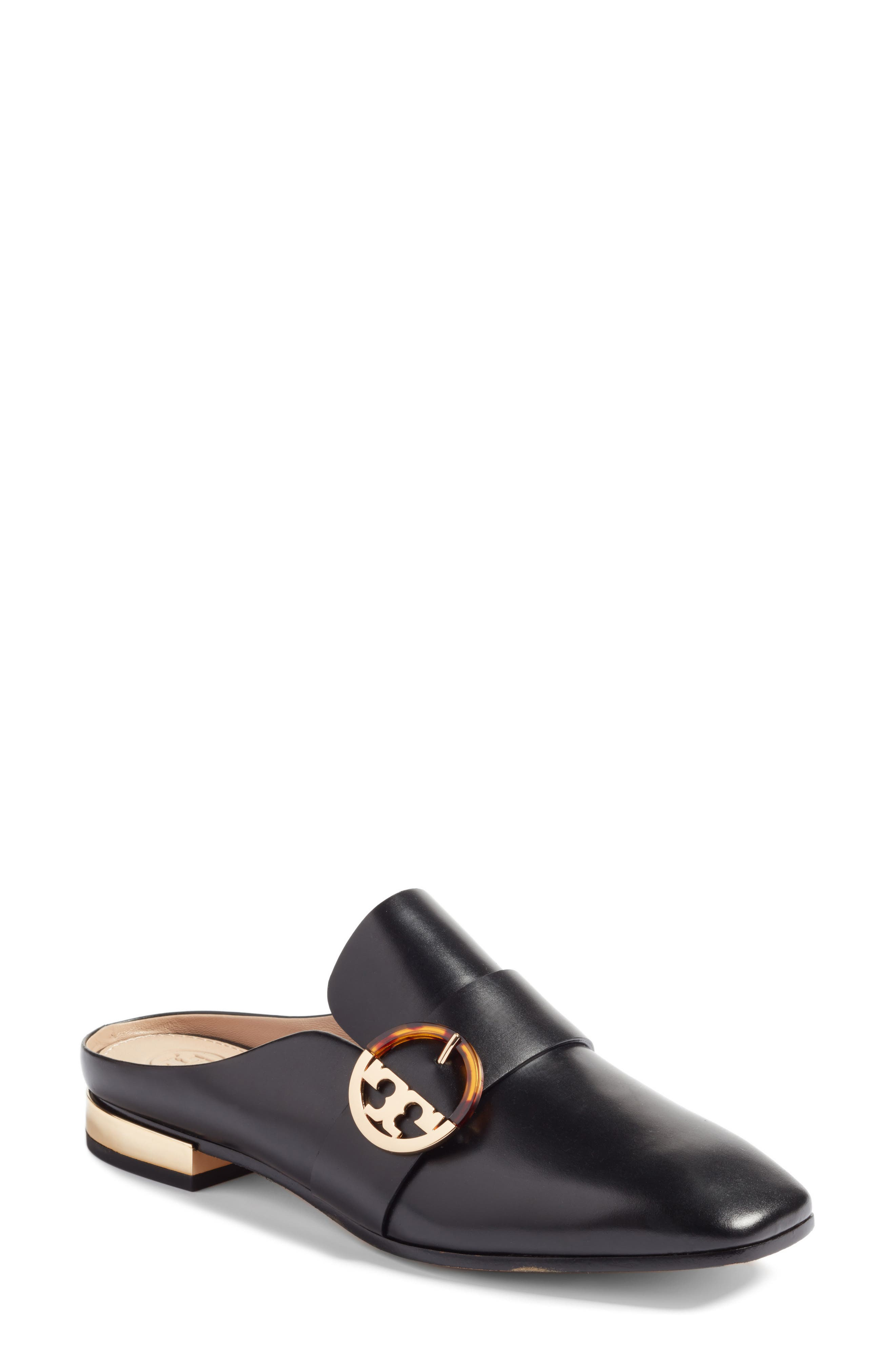Sidney Backless Loafer,                             Main thumbnail 1, color,                             001