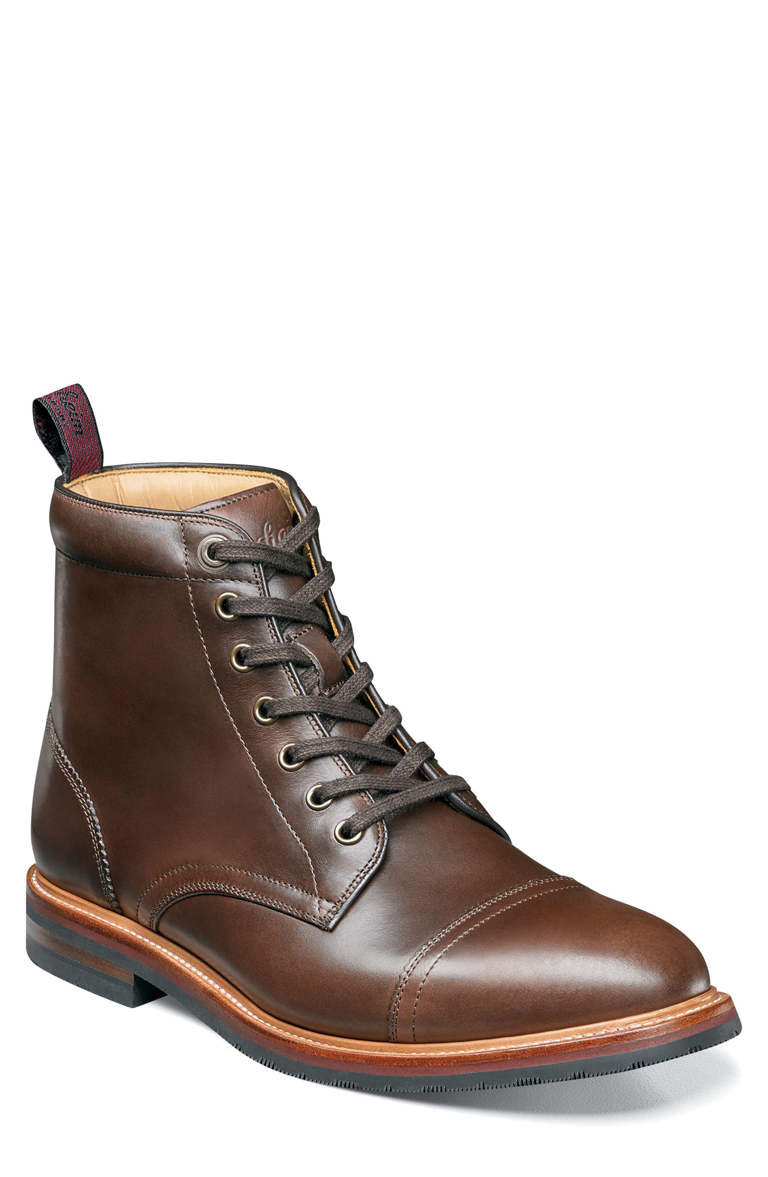 Florsheim Founcry Cap Toe Boot - Brown
