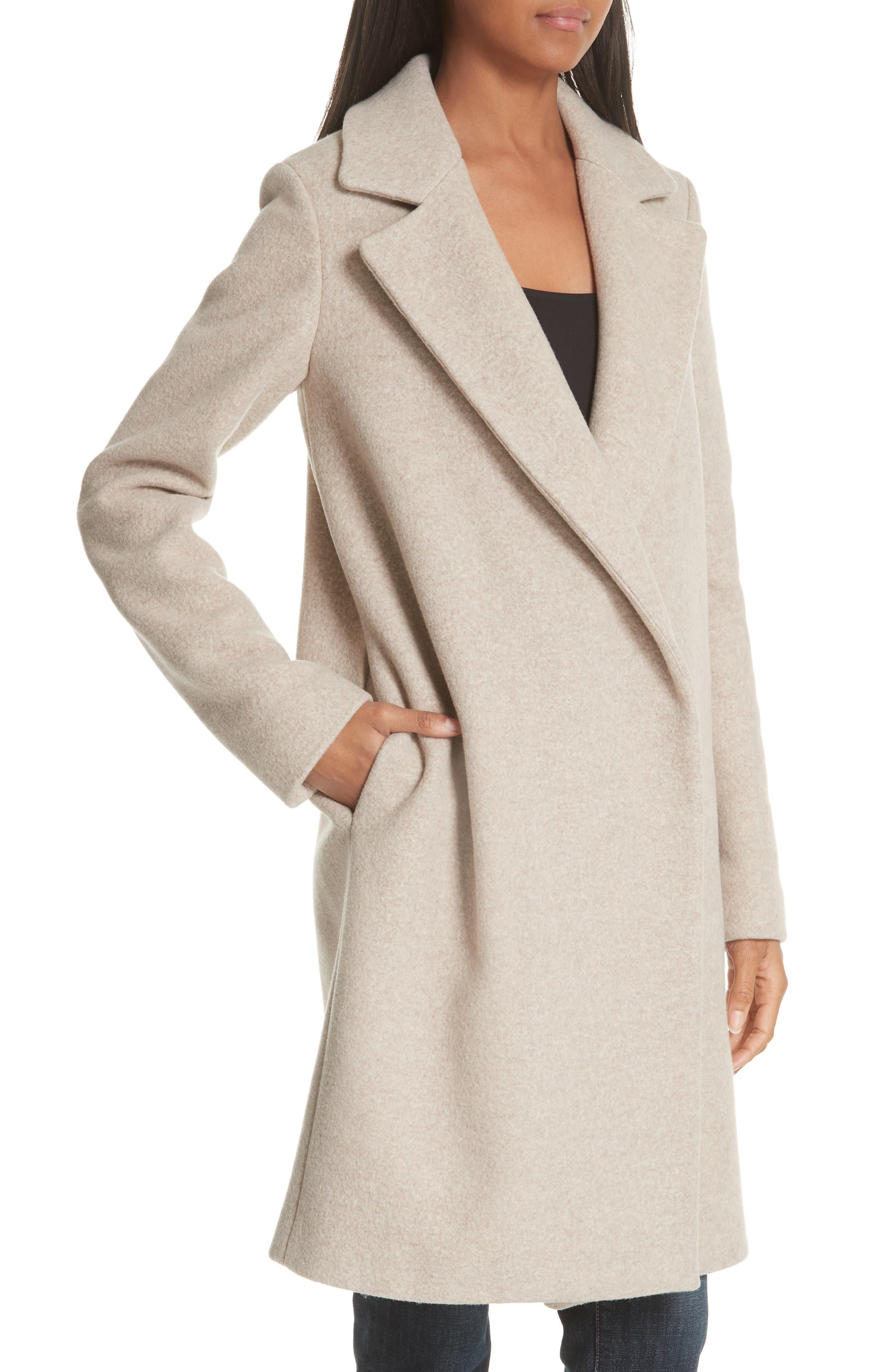 Clairene Hawthorne Wool Cashmere Coat,                             Alternate thumbnail 4, color,                             260