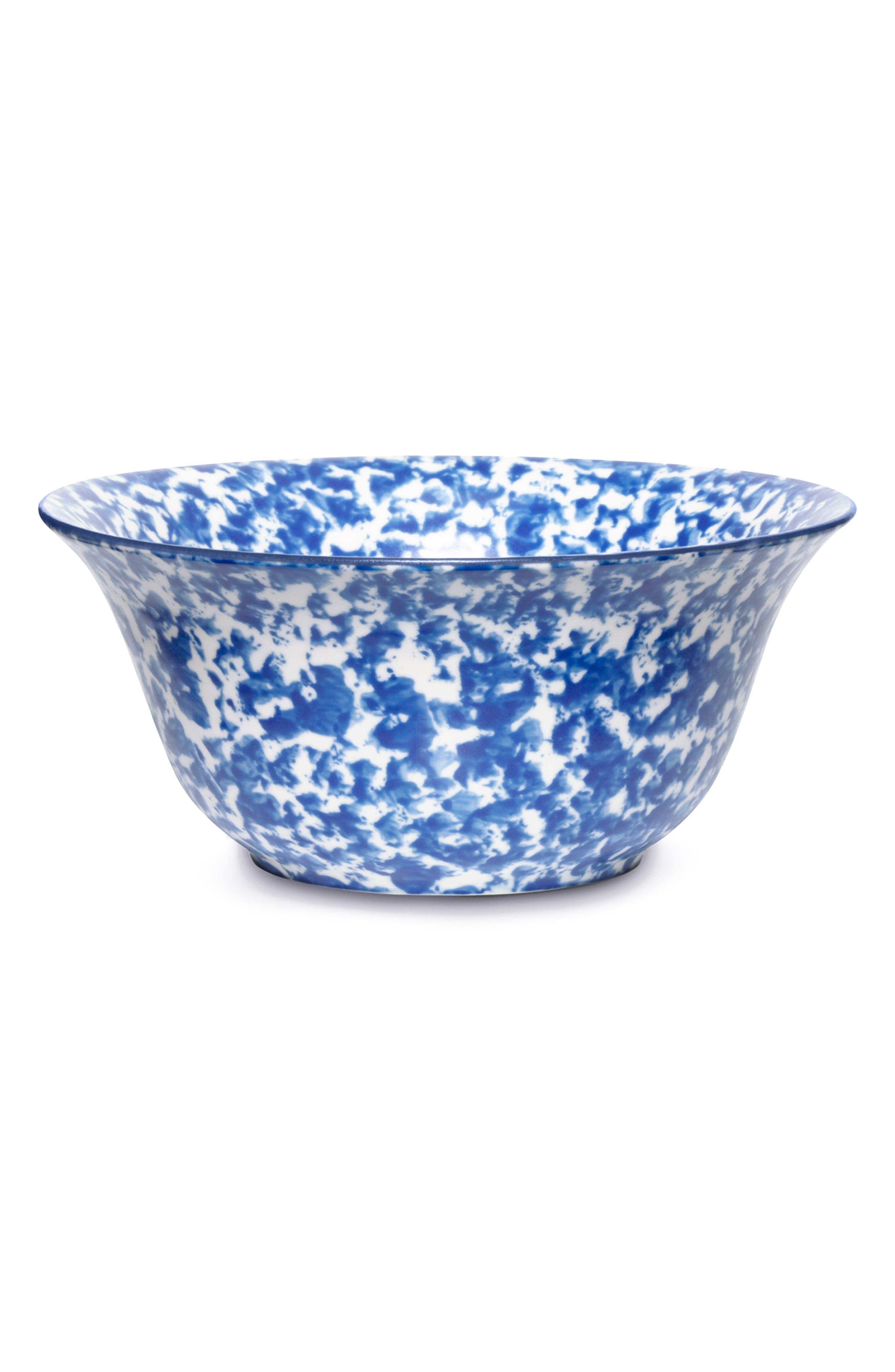 Set of 4 Spongeware Bowls, Main, color, CLASSIC SPONGE