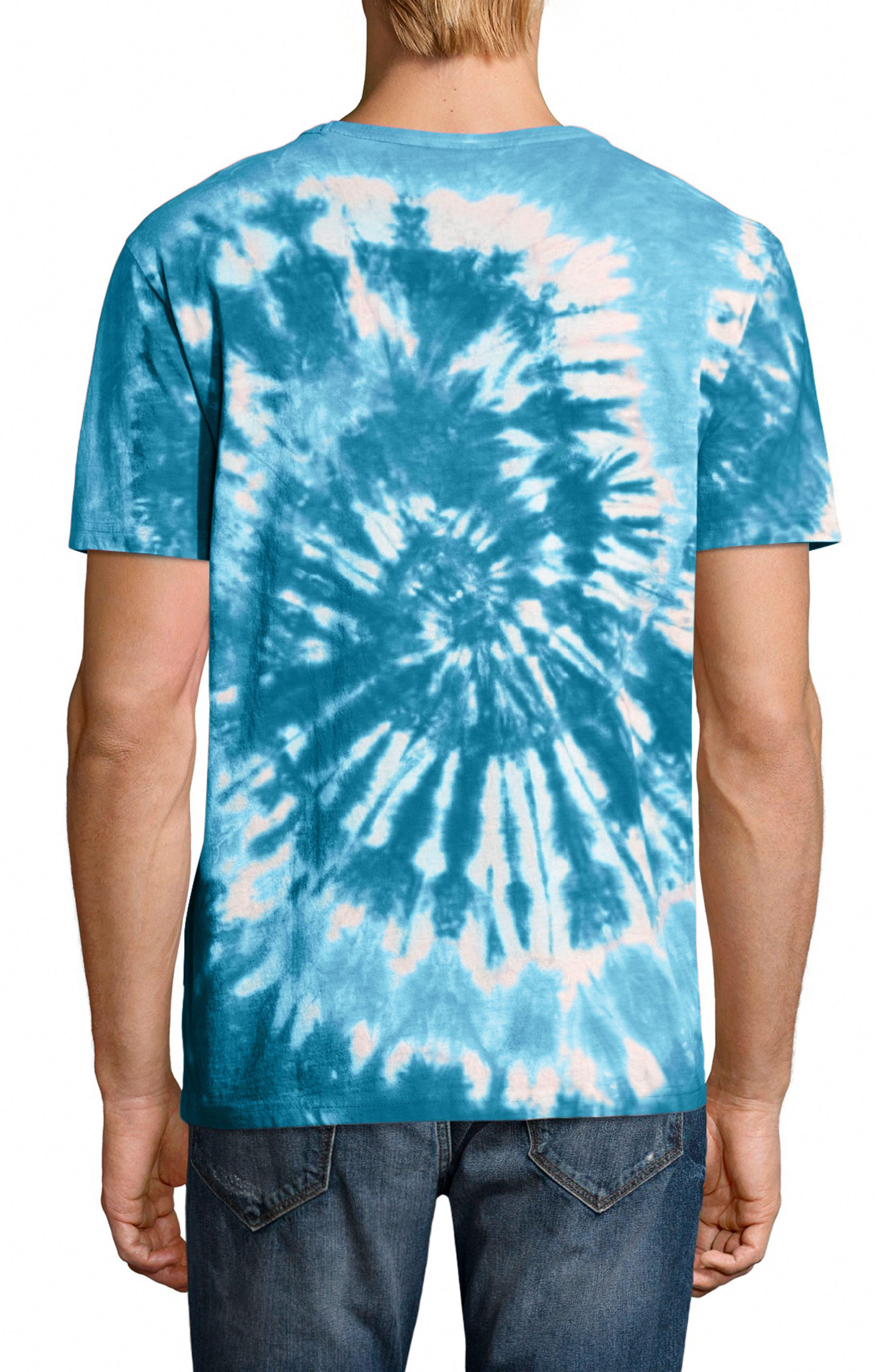 Tie Dye Jersey T-Shirt,                             Alternate thumbnail 2, color,                             NAVY