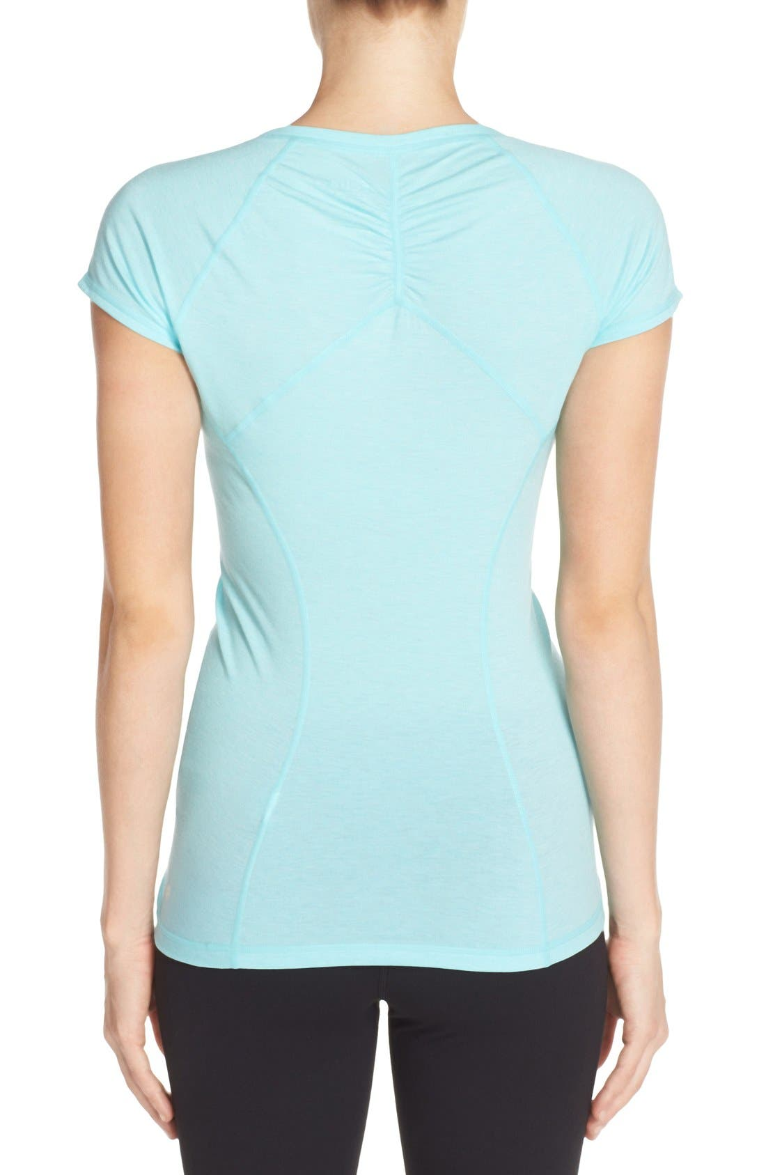 'Z 6' Ruched Tee,                             Alternate thumbnail 38, color,