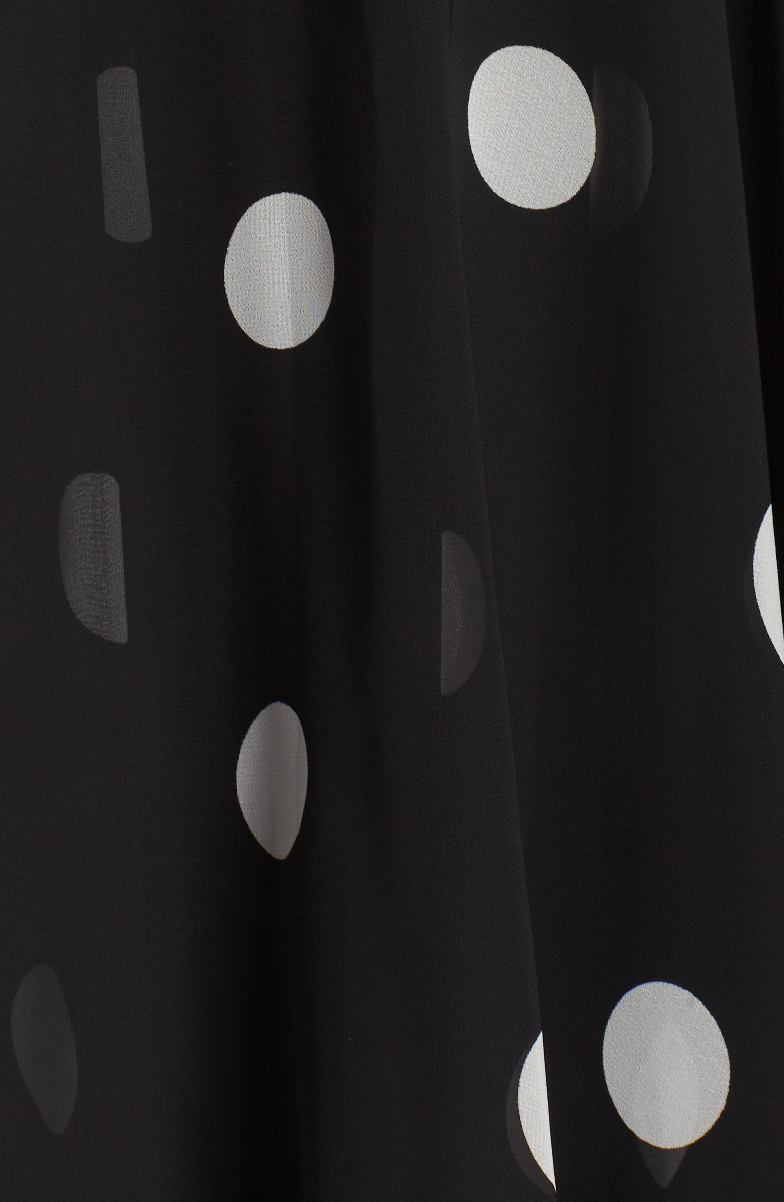 Polka Dot Chiffon Maxi Dress,                             Alternate thumbnail 6, color,                             012