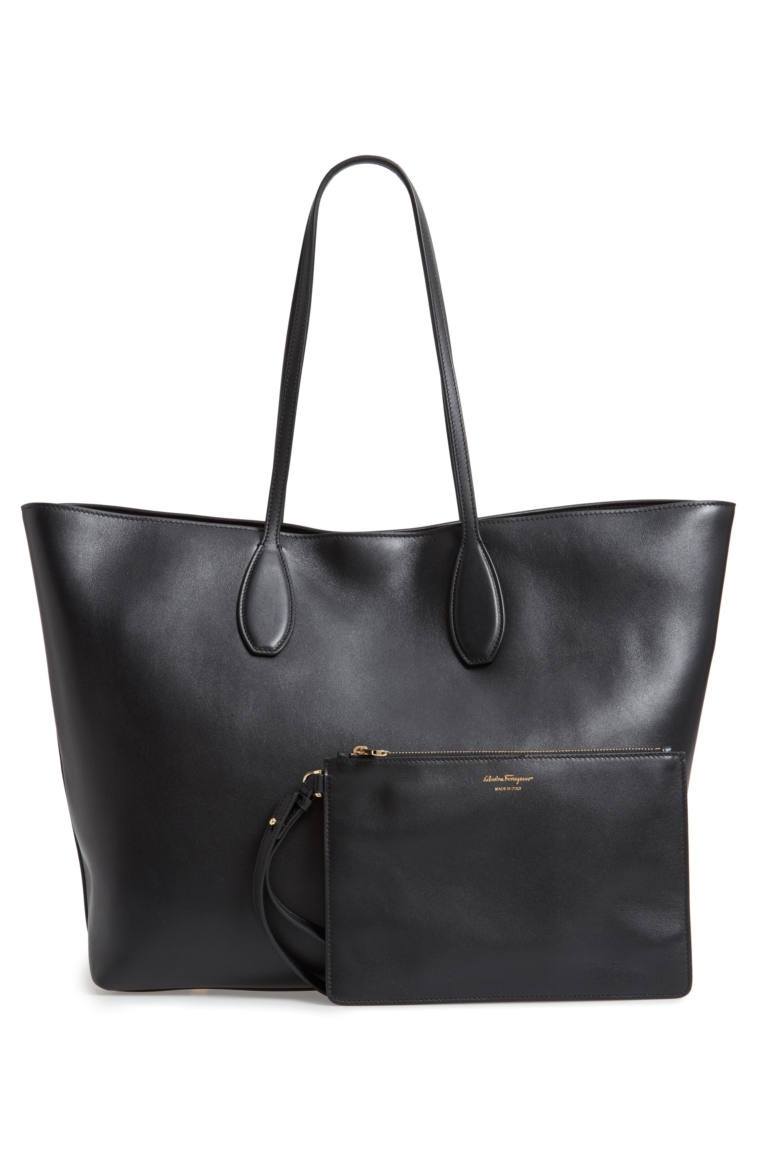 The Studio Leather Tote,                             Alternate thumbnail 3, color,