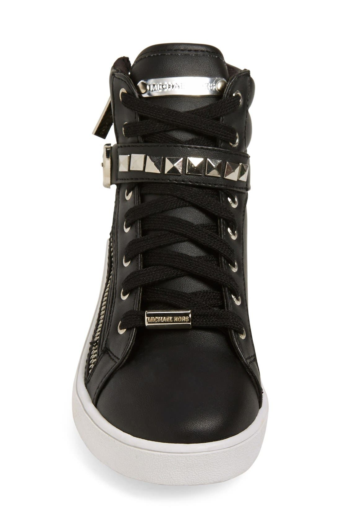'Ivy Rory' High Top Sneaker,                             Alternate thumbnail 3, color,                             001