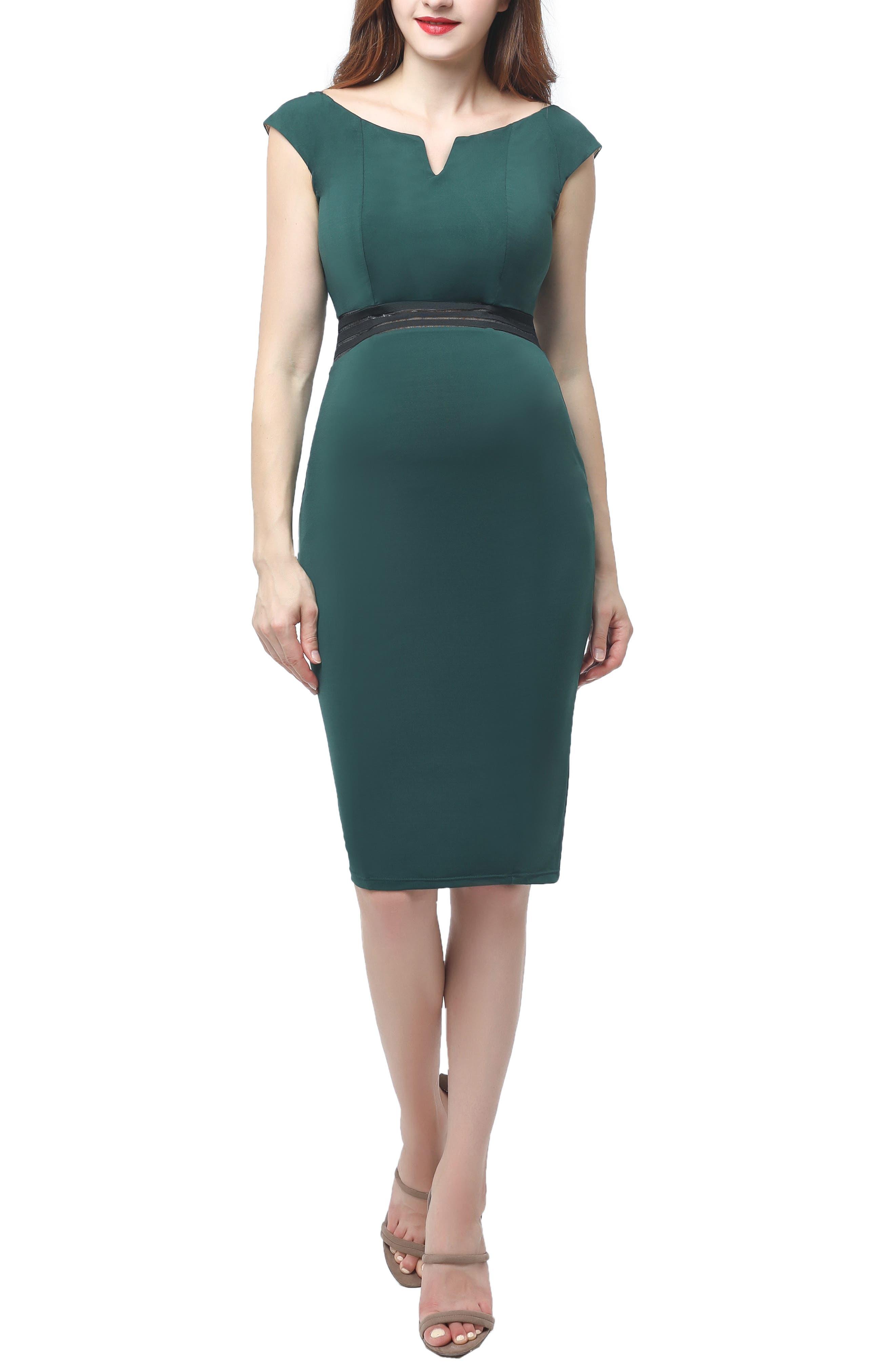 Kimi And Kai Lonnie Maternity Body-Con Dress, Green