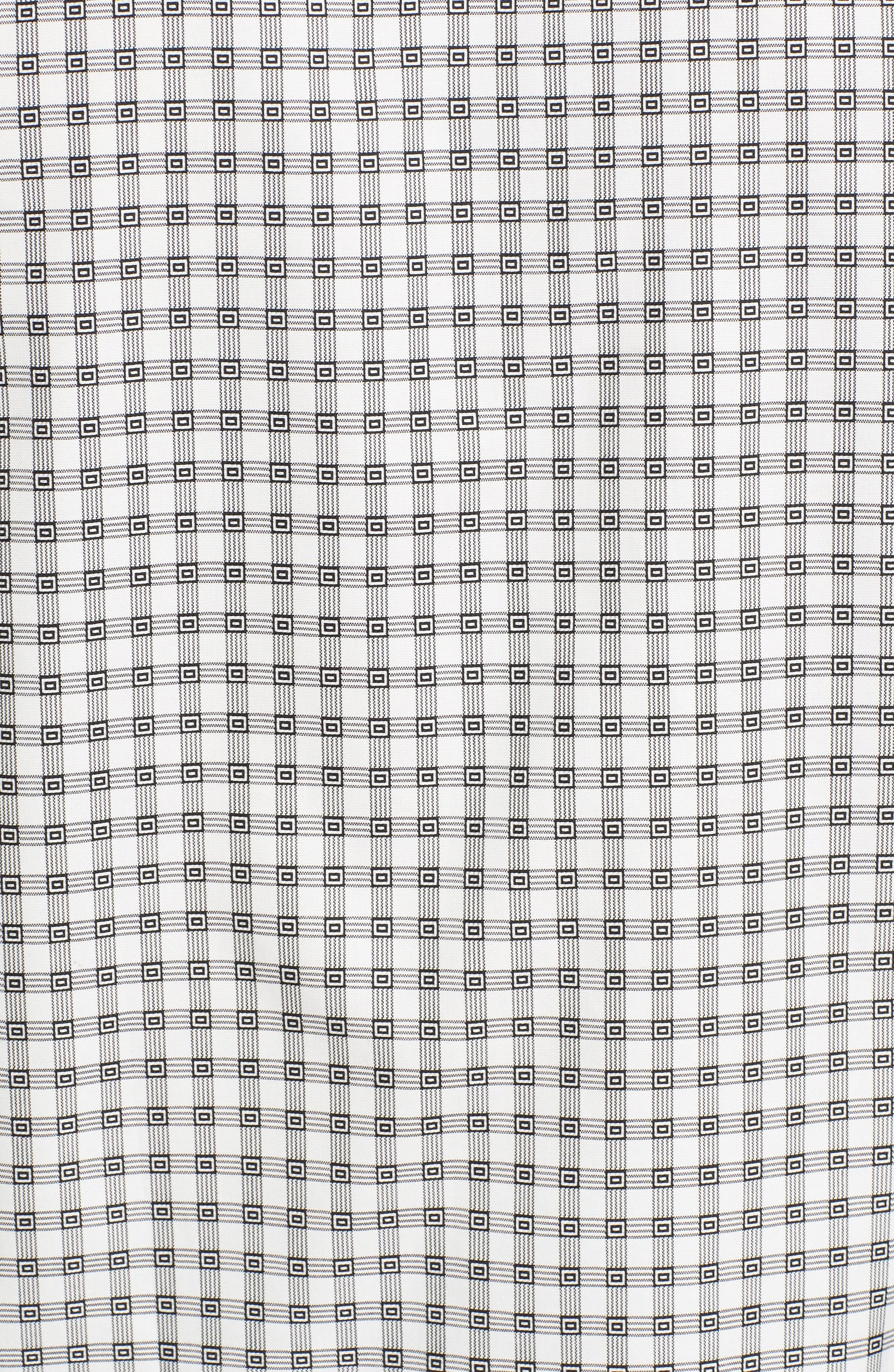 Shaped Fit Check Sport Shirt,                             Alternate thumbnail 5, color,                             020