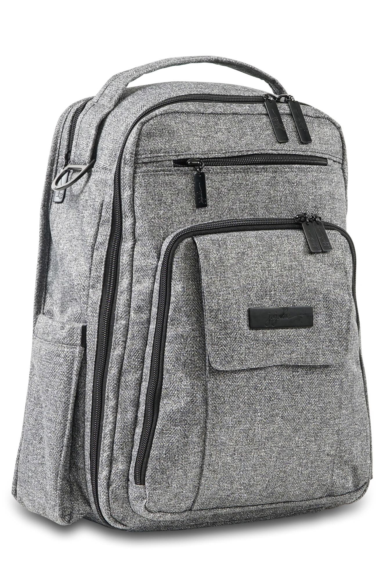'Be Right Back - Onyx Collection' Diaper Backpack,                             Alternate thumbnail 5, color,                             GRAY MATTER