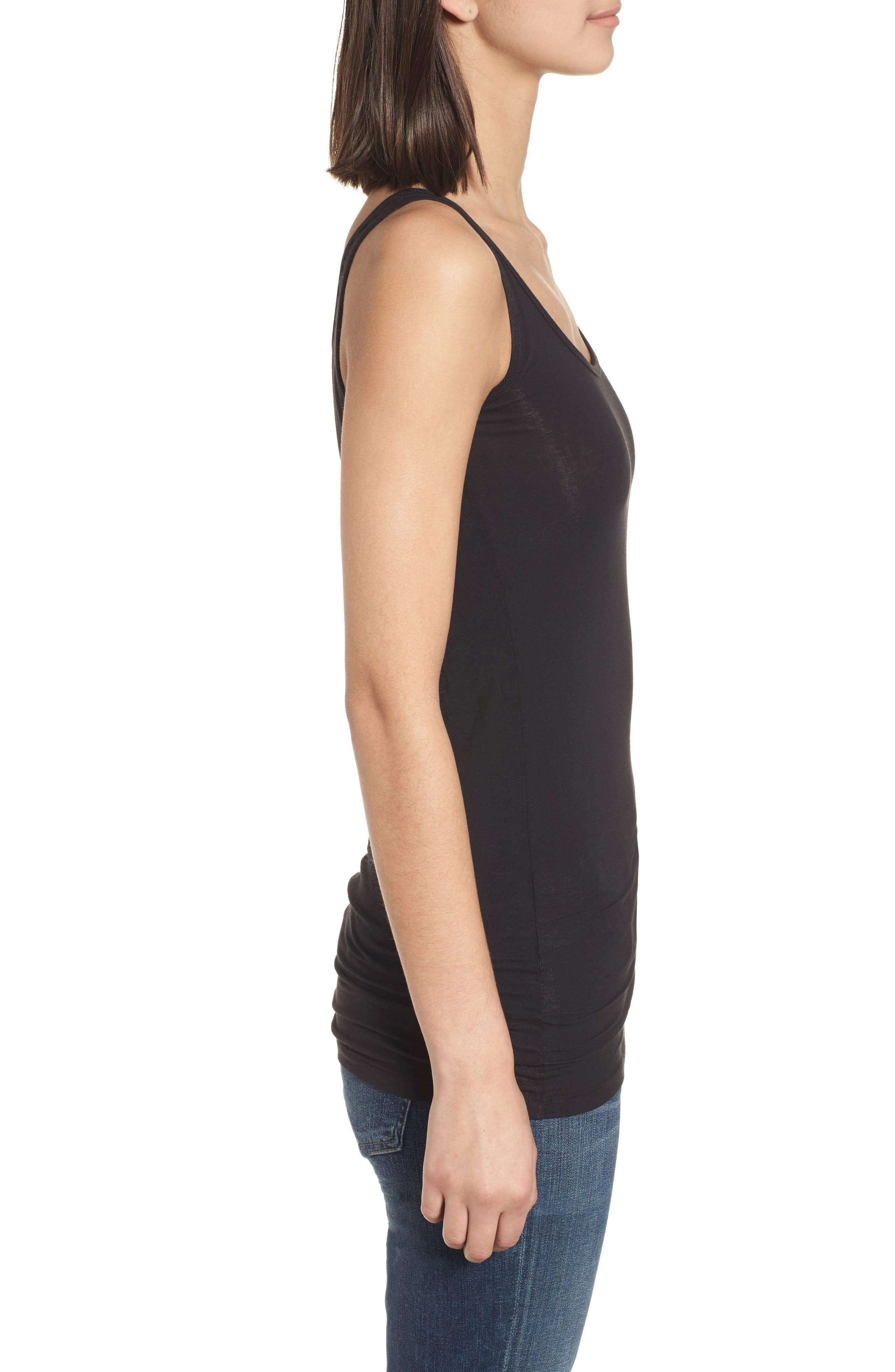 Scoop Neck Stretch Tank,                             Alternate thumbnail 4, color,                             001