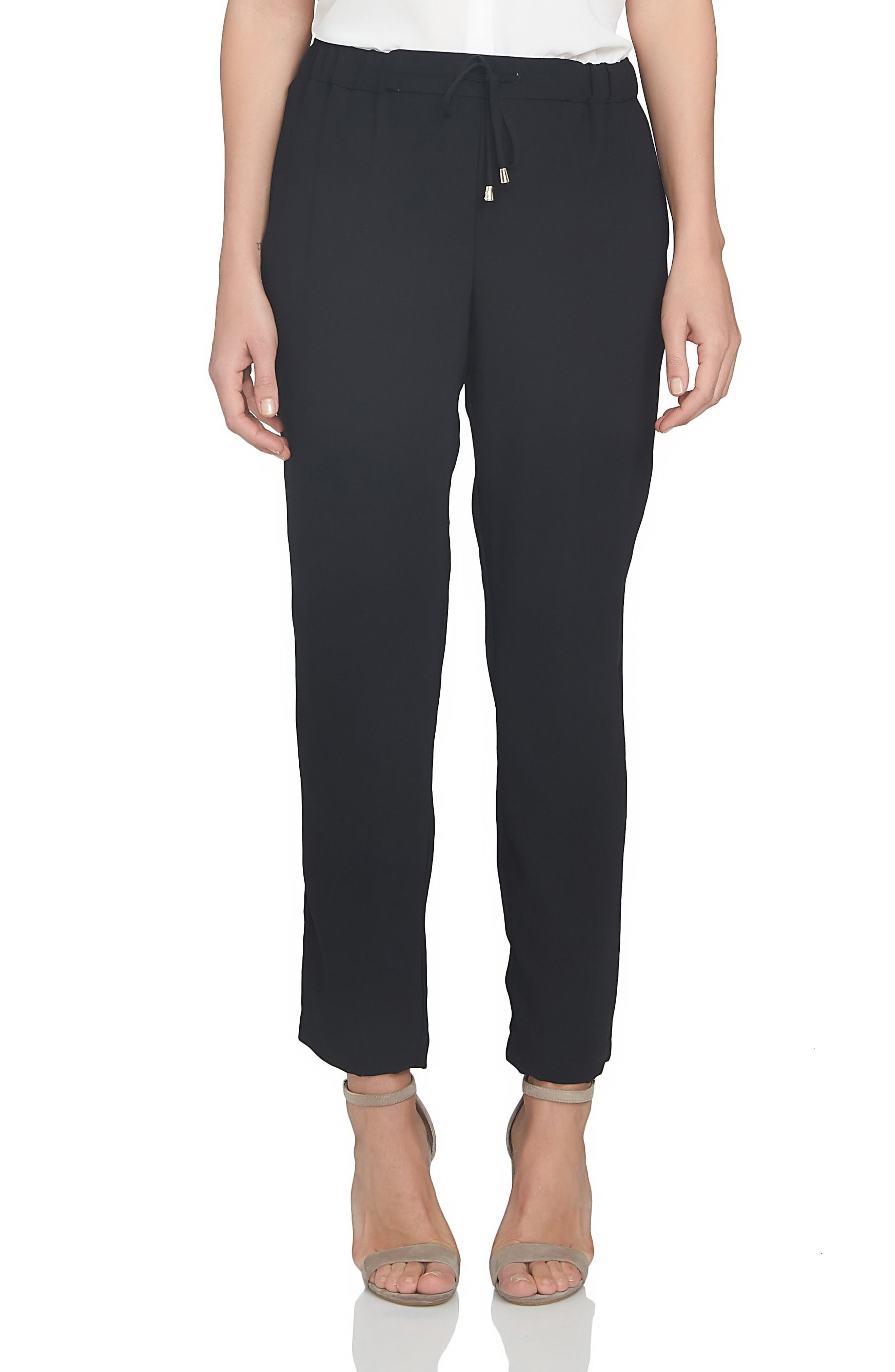 Soft Crepe Jogger Pants,                             Main thumbnail 1, color,